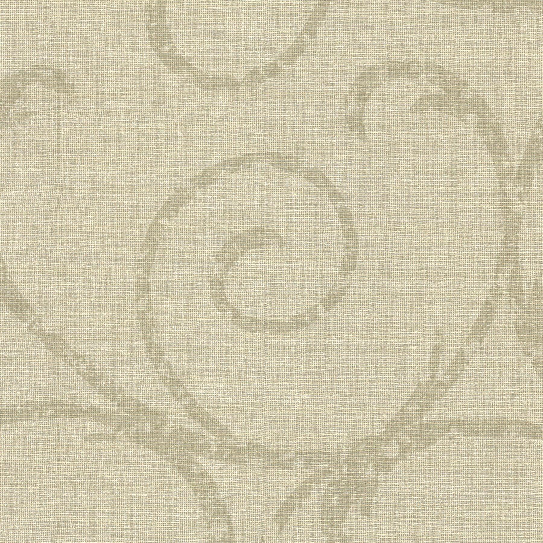 Picture of Bates Beige Textured Scroll Wallpaper
