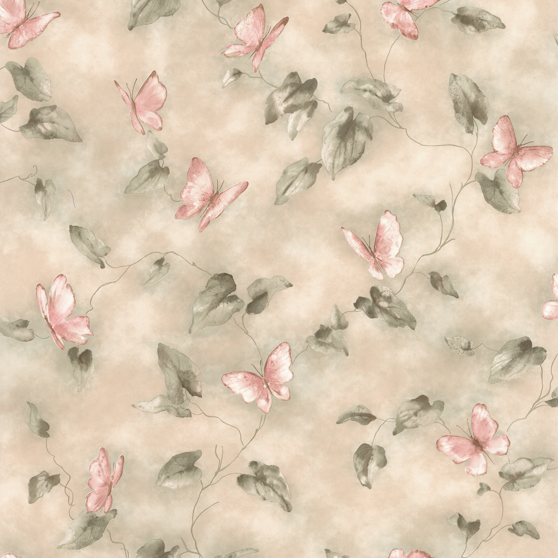 Picture of Aveline Pink Butterfly Trail Wallpaper