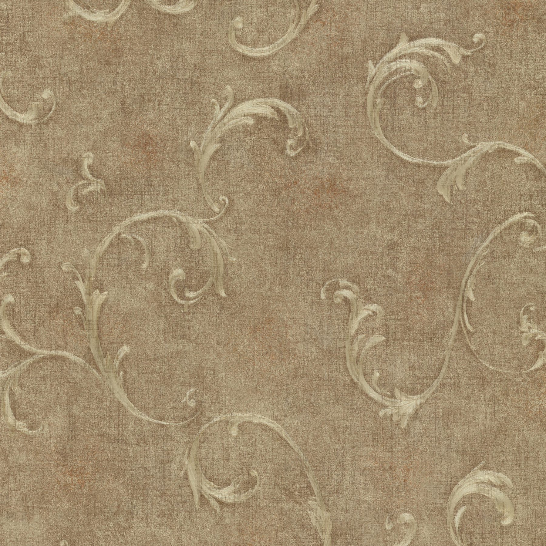 Picture of Bayley Brass Scroll Wallpaper