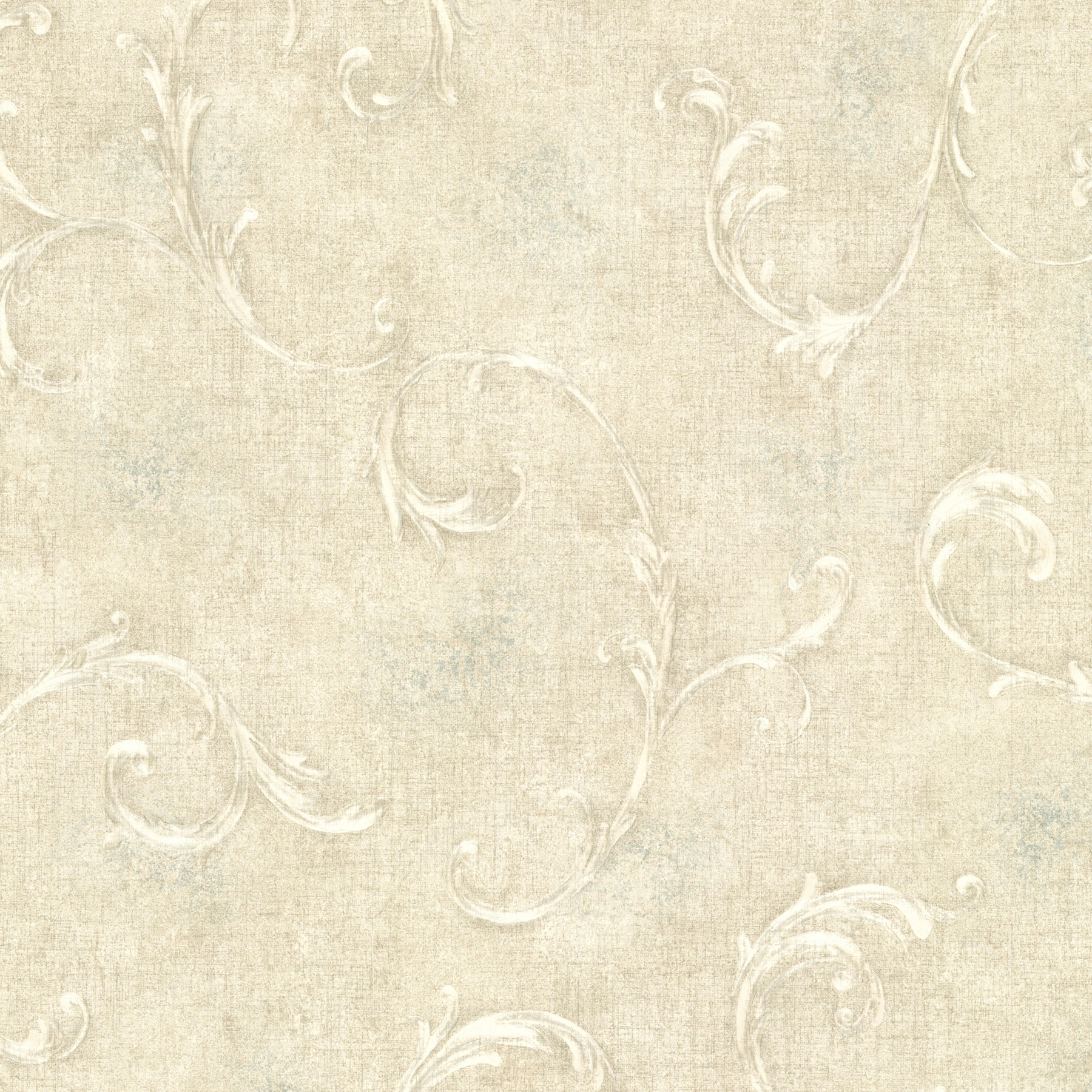 Picture of Bayley Light Green Scroll Wallpaper