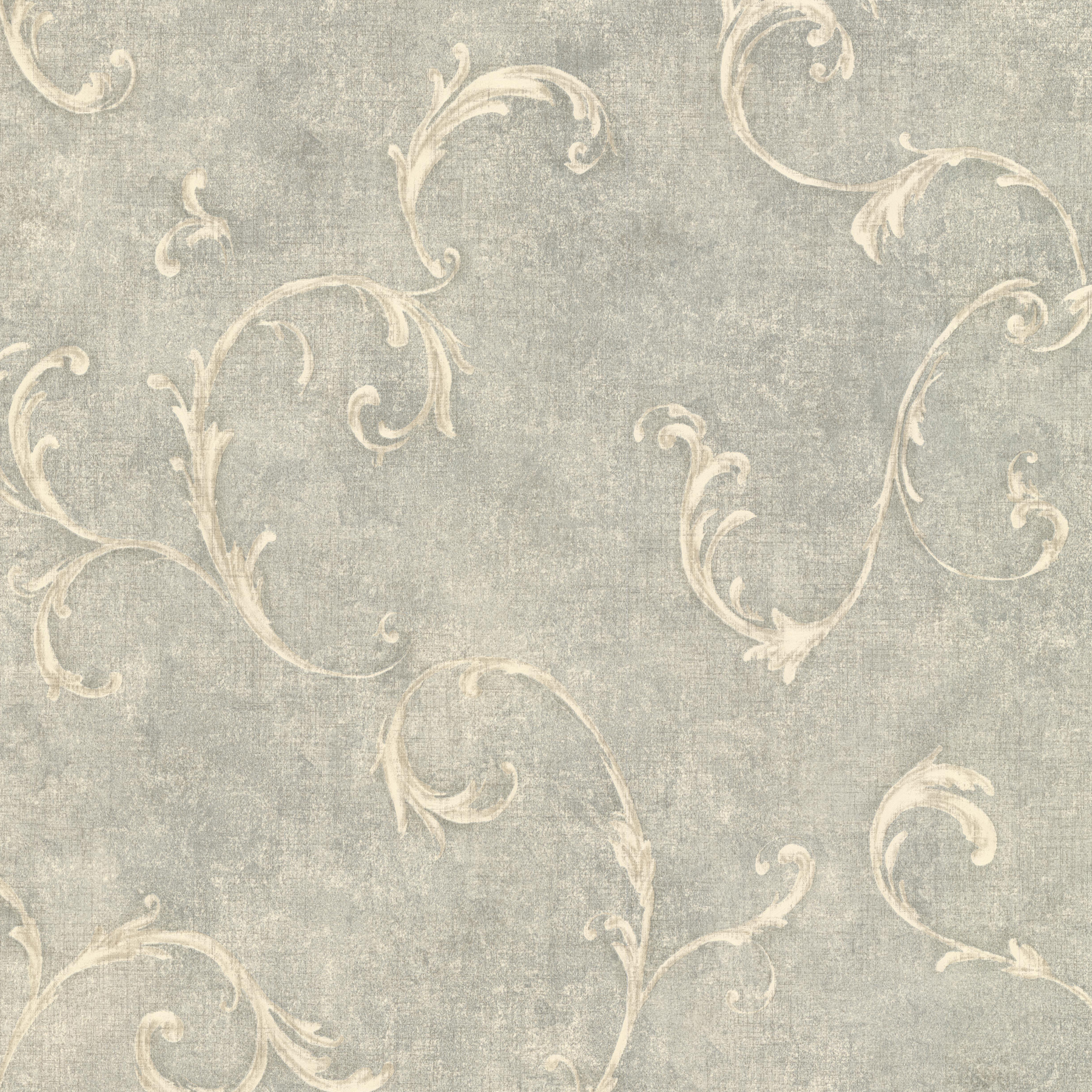 Picture of Bayley Sage Scroll Wallpaper