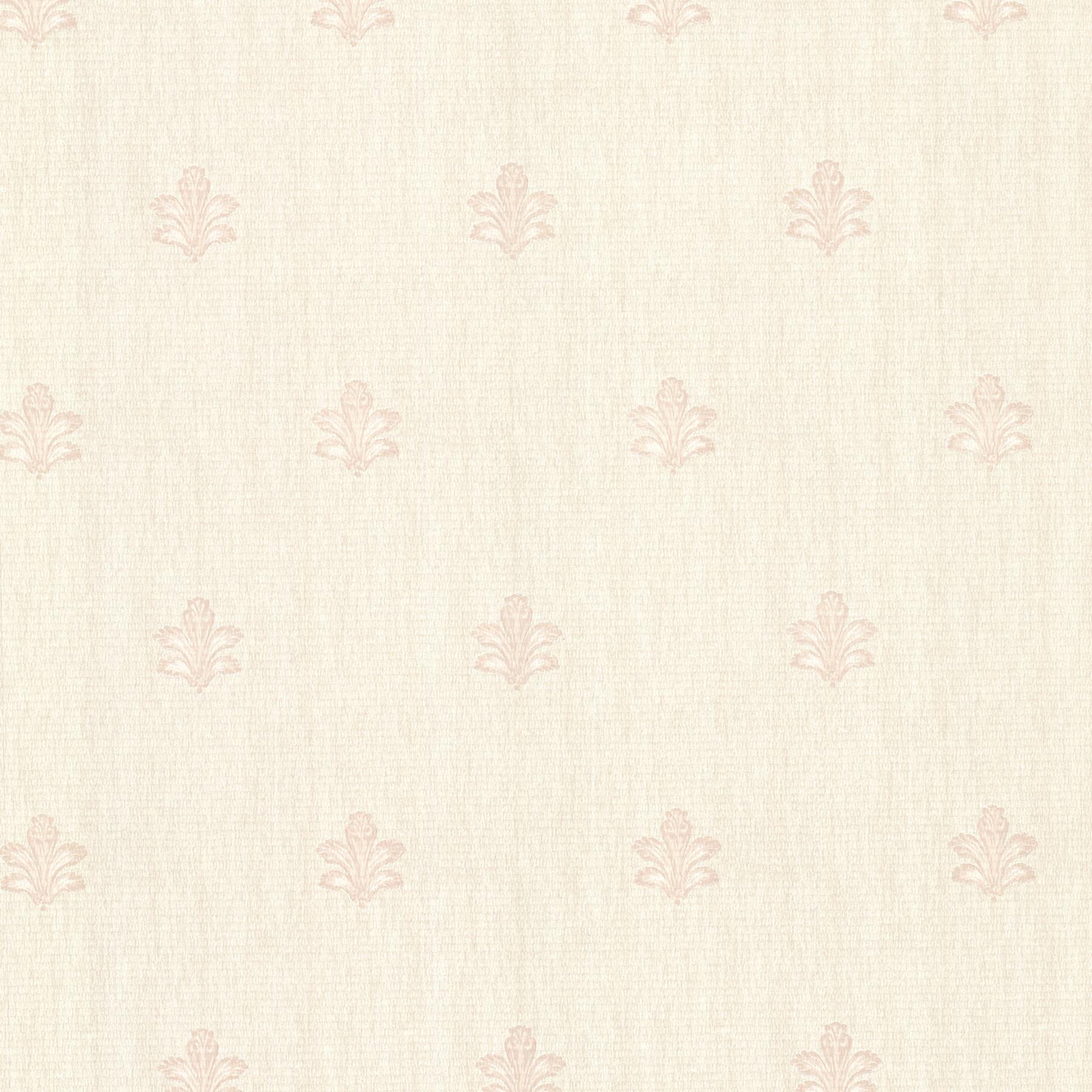 Picture of Bolton Blush Fleur De Lis Wallpaper