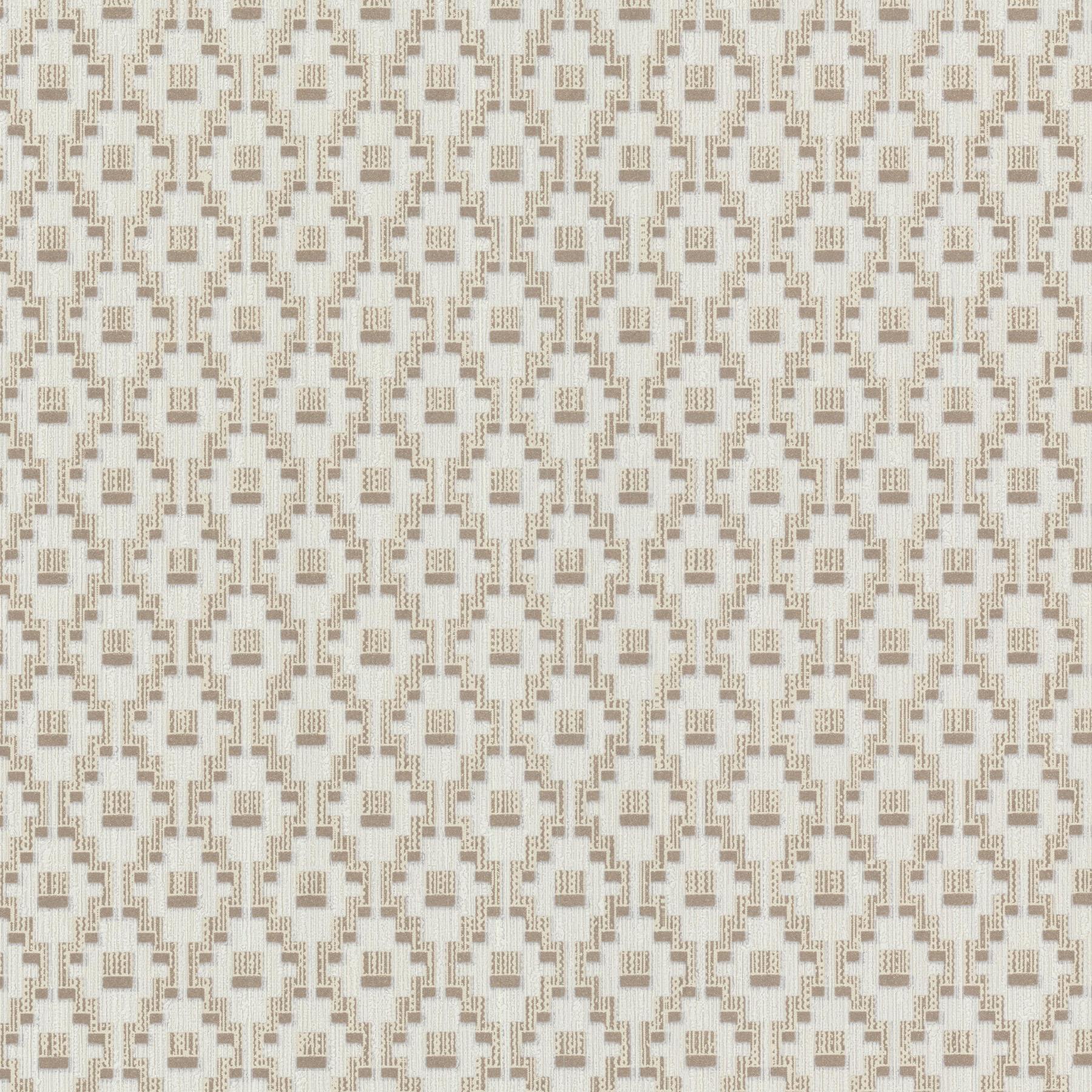 Picture of Austen Beige Small Geo Wallpaper