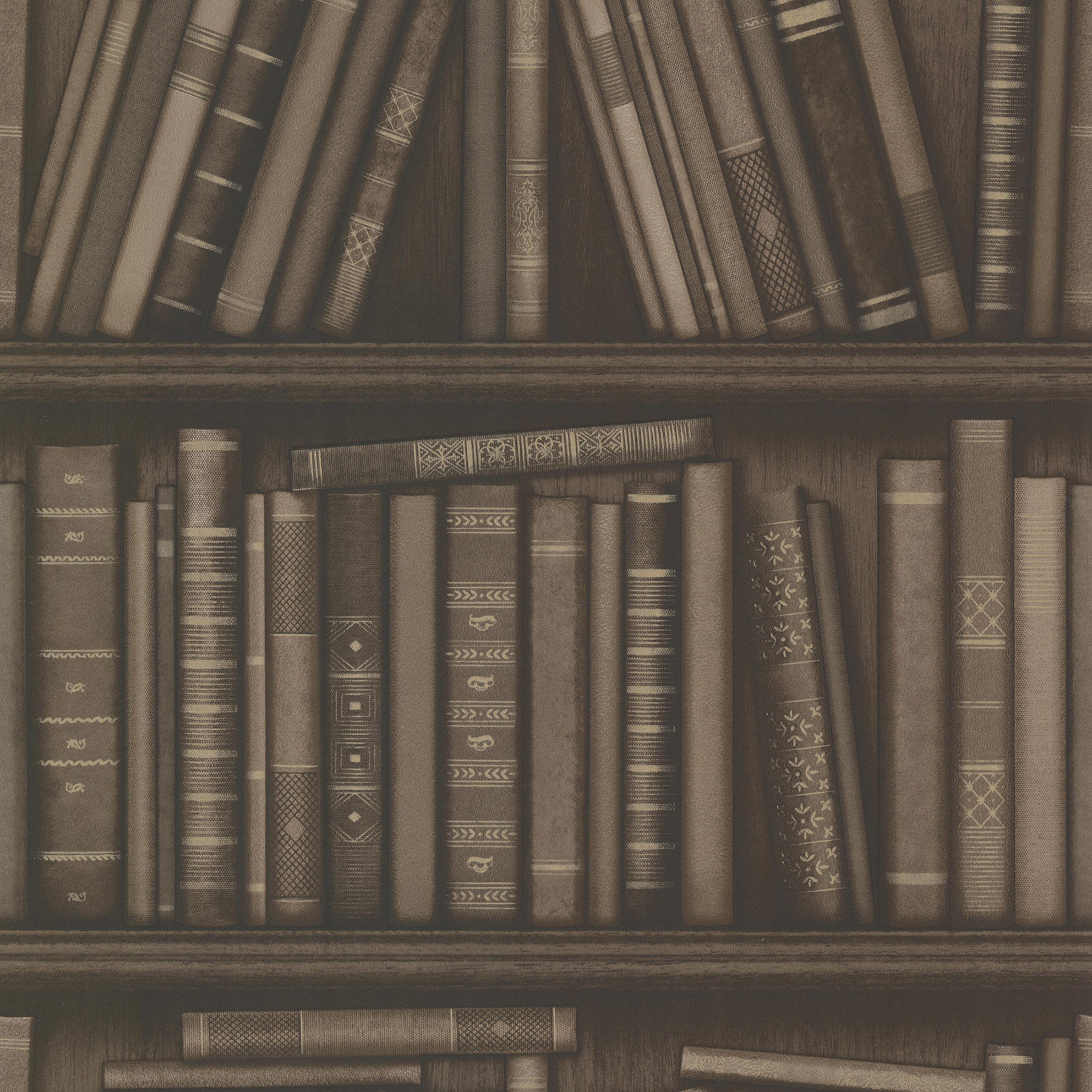 Picture of Atheneum Brown Antique Books Wallpaper