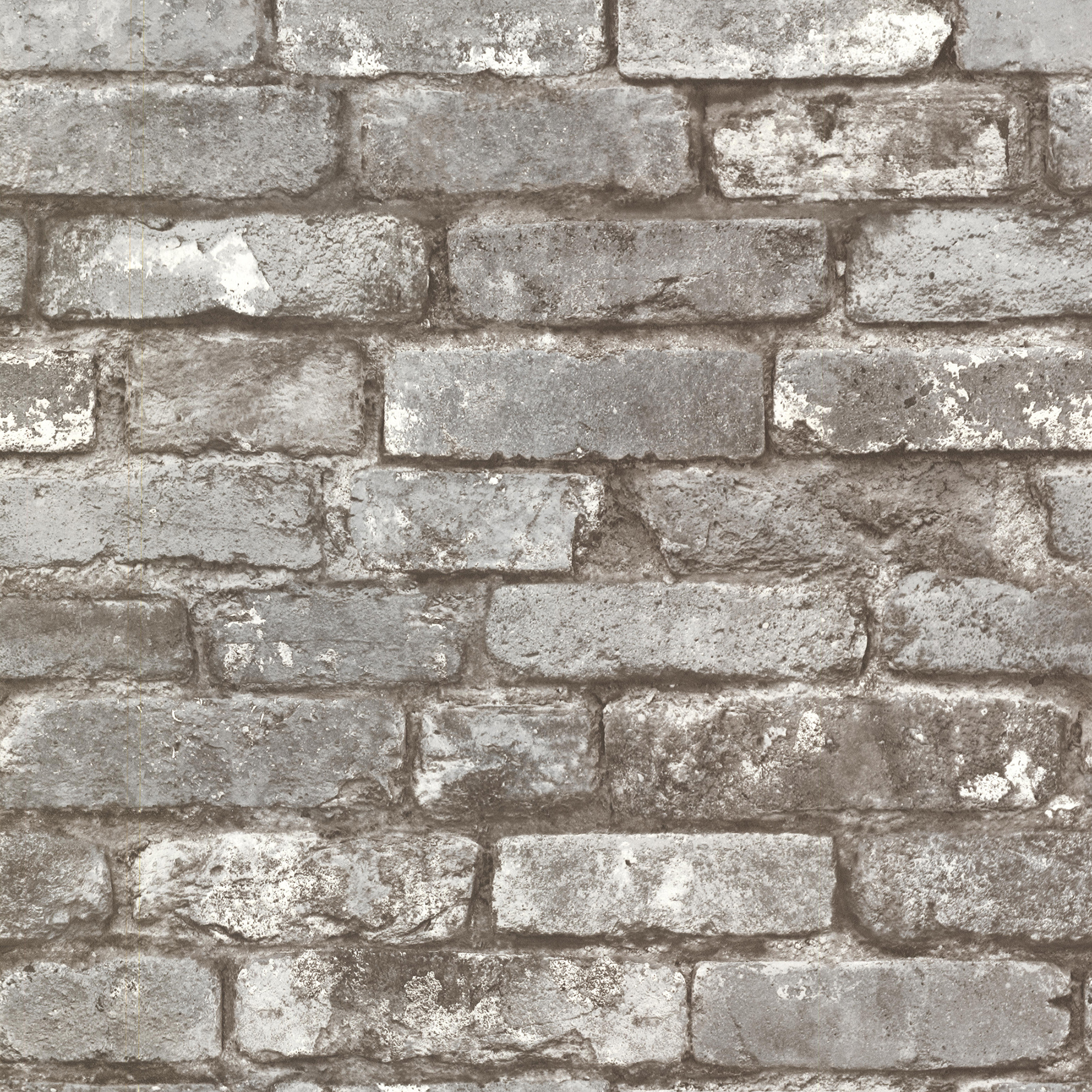Picture of Brickwork Pewter Exposed Brick Wallpaper