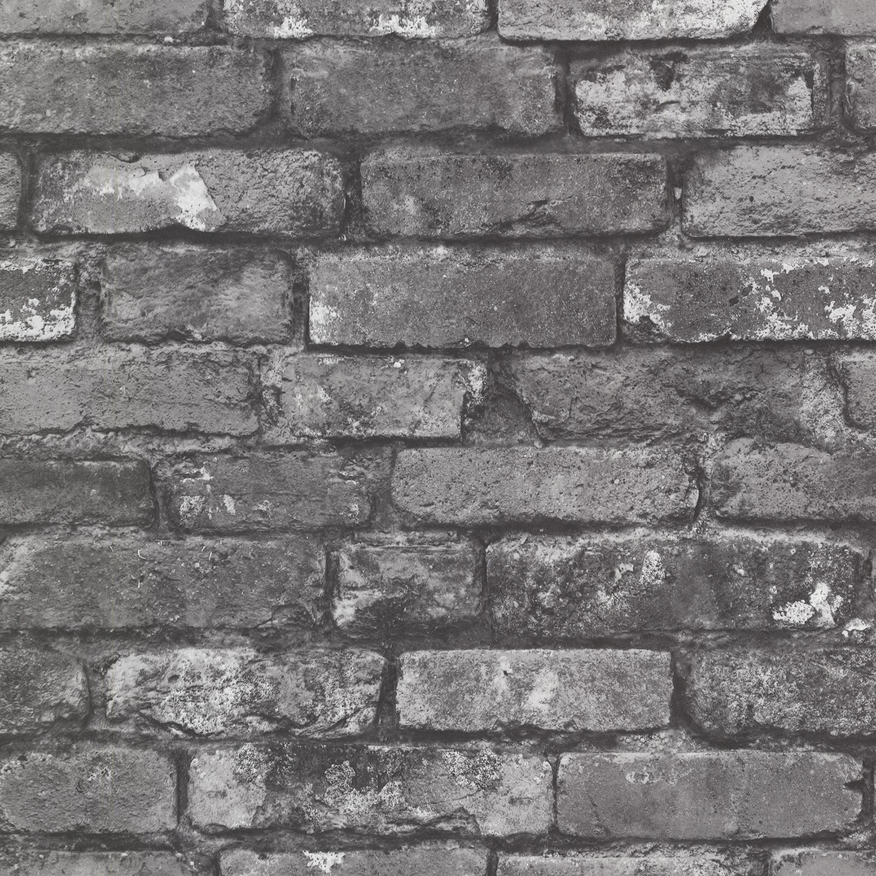 Picture of Brickwork Slate Exposed Brick Wallpaper