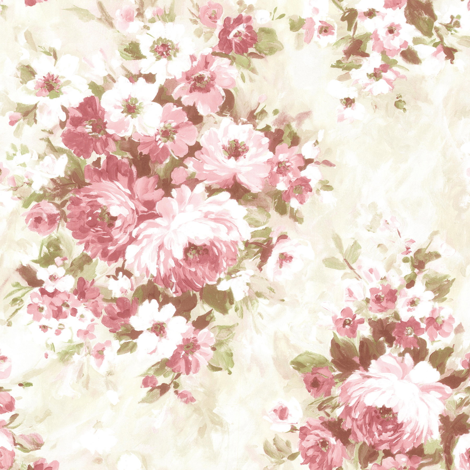 Picture of Belle Rose Floral Bouquet Wallpaper