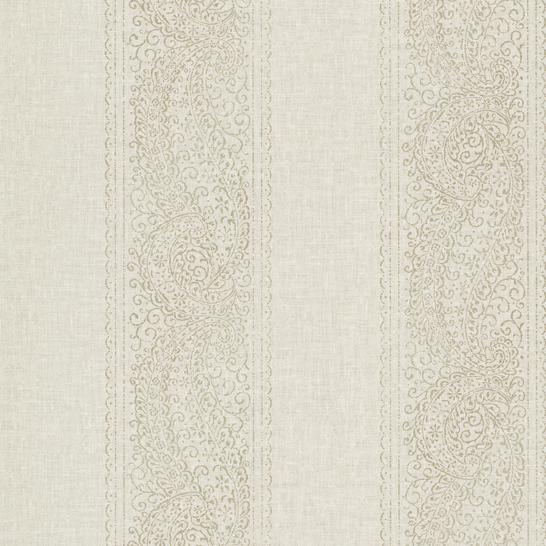 Picture of Arcades Taupe Paisley Stripe Wallpaper