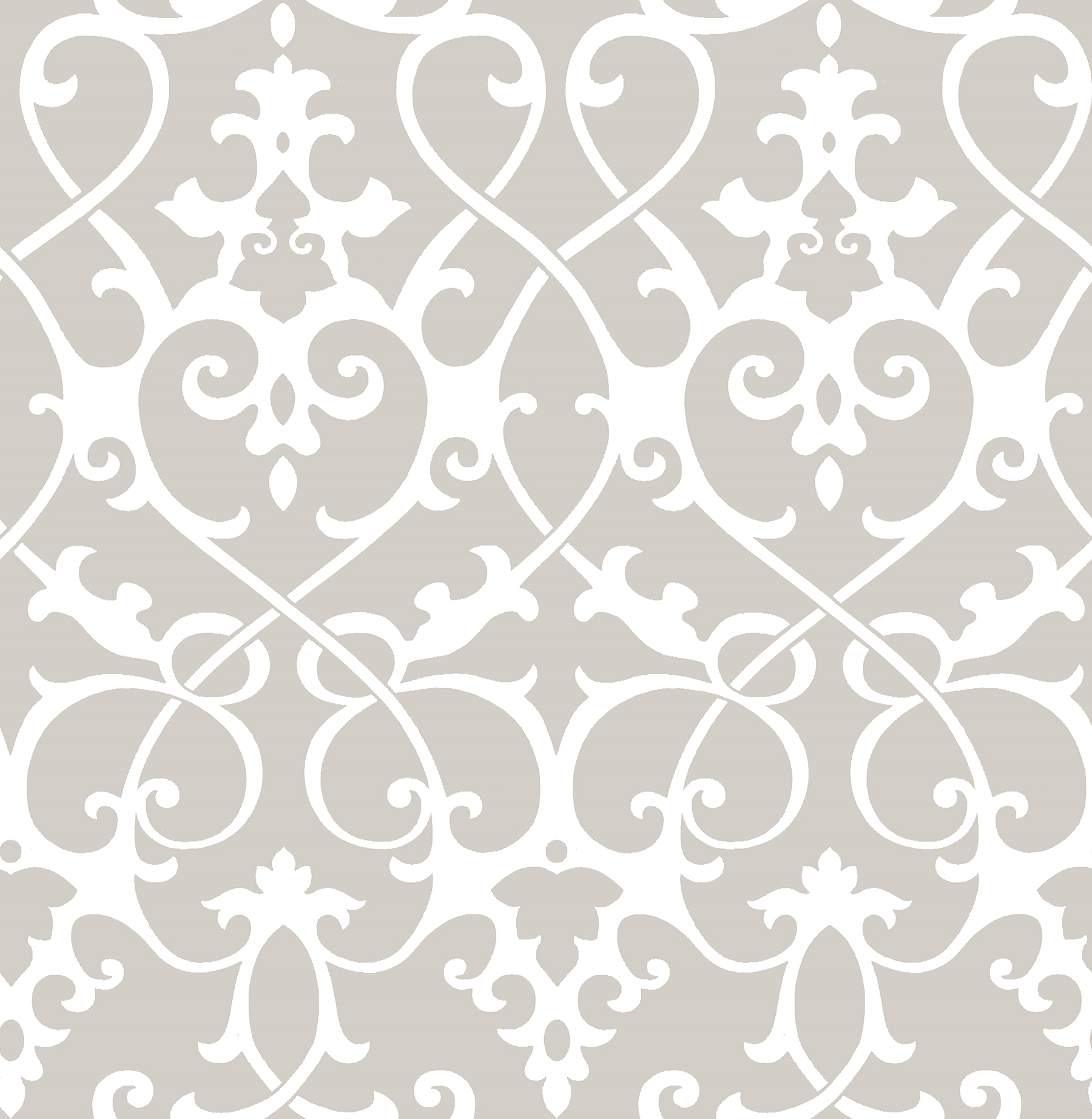 Picture of Axiom Taupe Ironwork Wallpaper