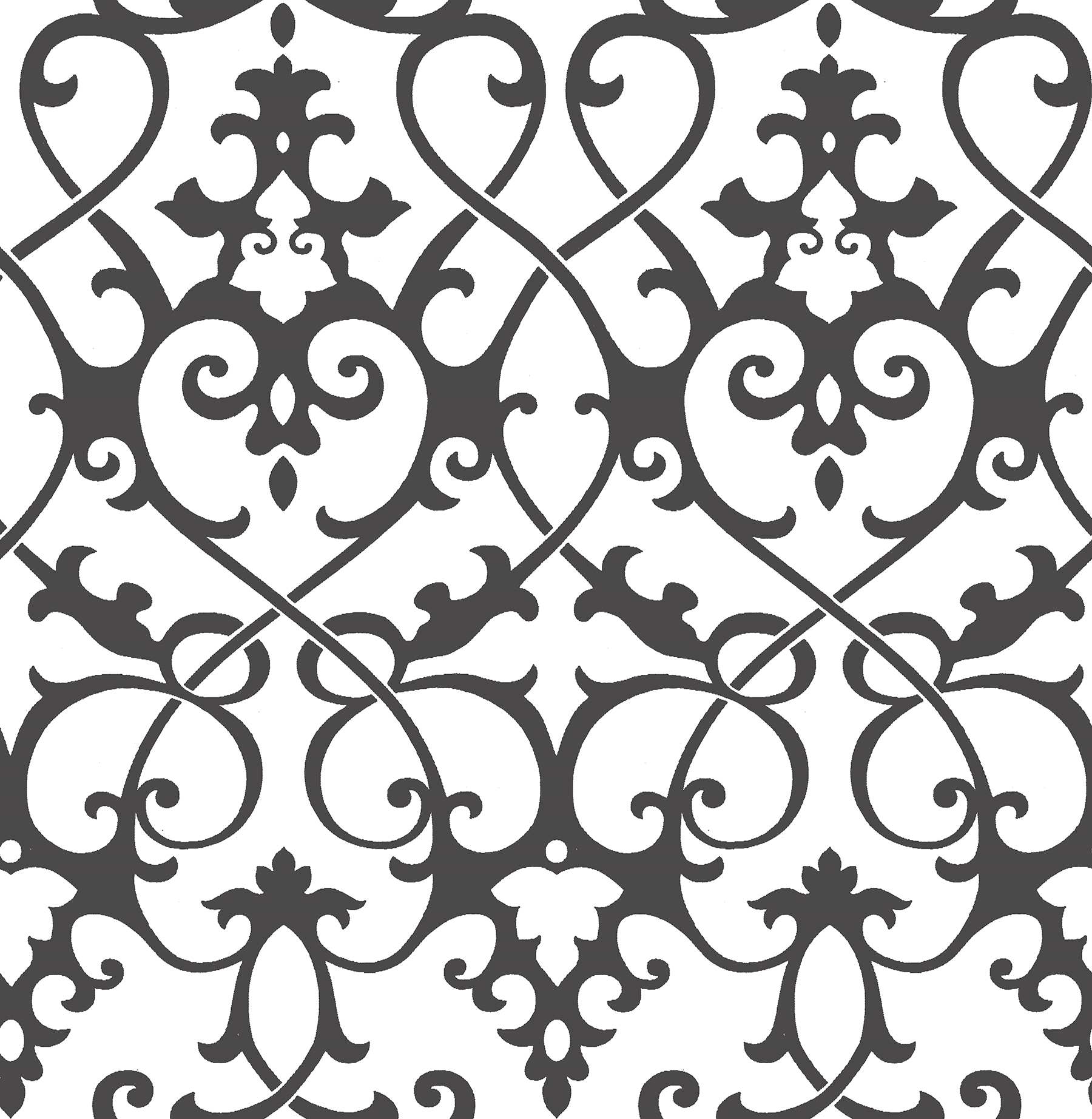 Picture of Axiom Black Ironwork Wallpaper