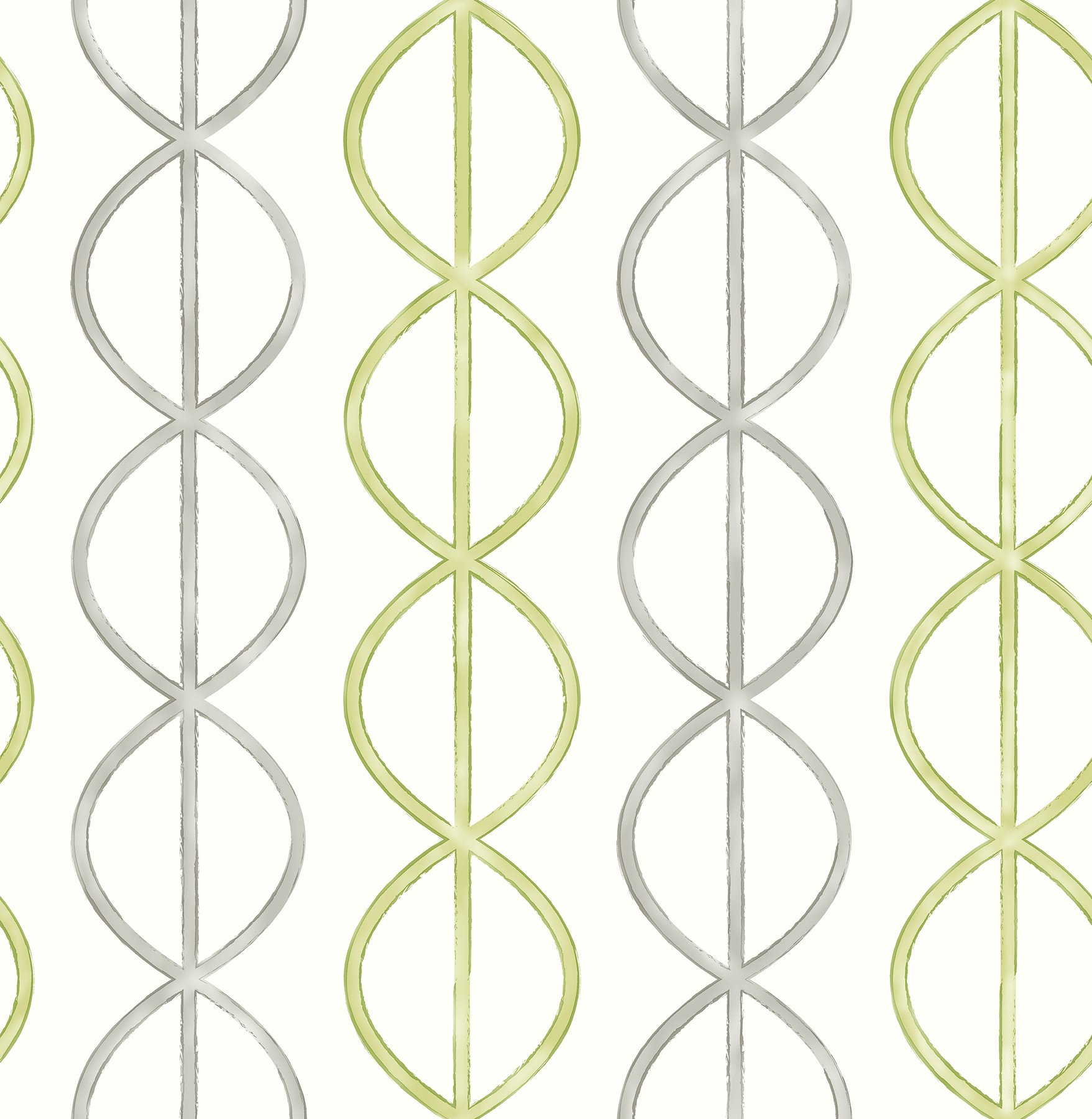 Picture of Banning Stripe Green Geometric Wallpaper