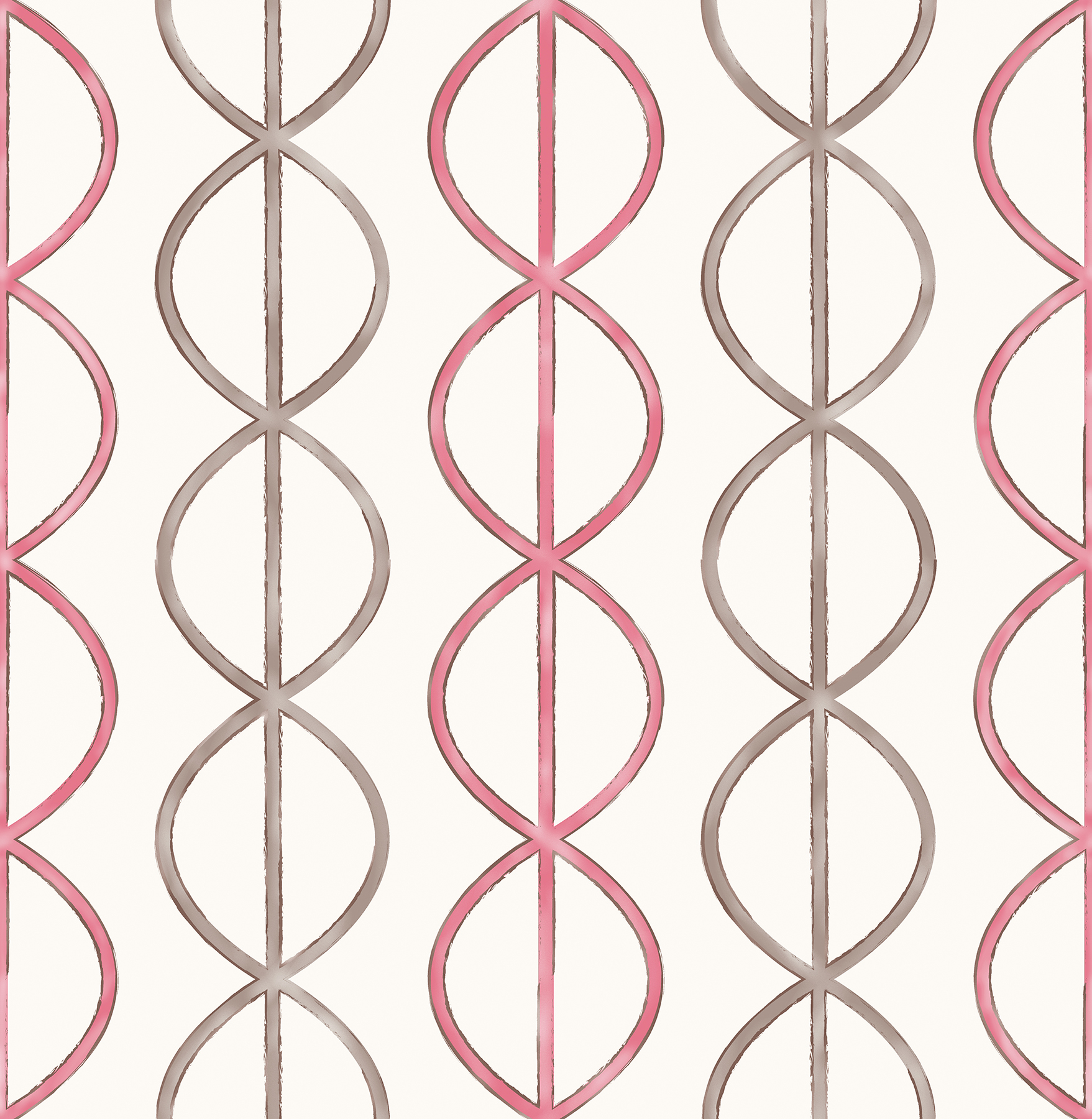 Picture of Banning Stripe Pink Geometric Wallpaper