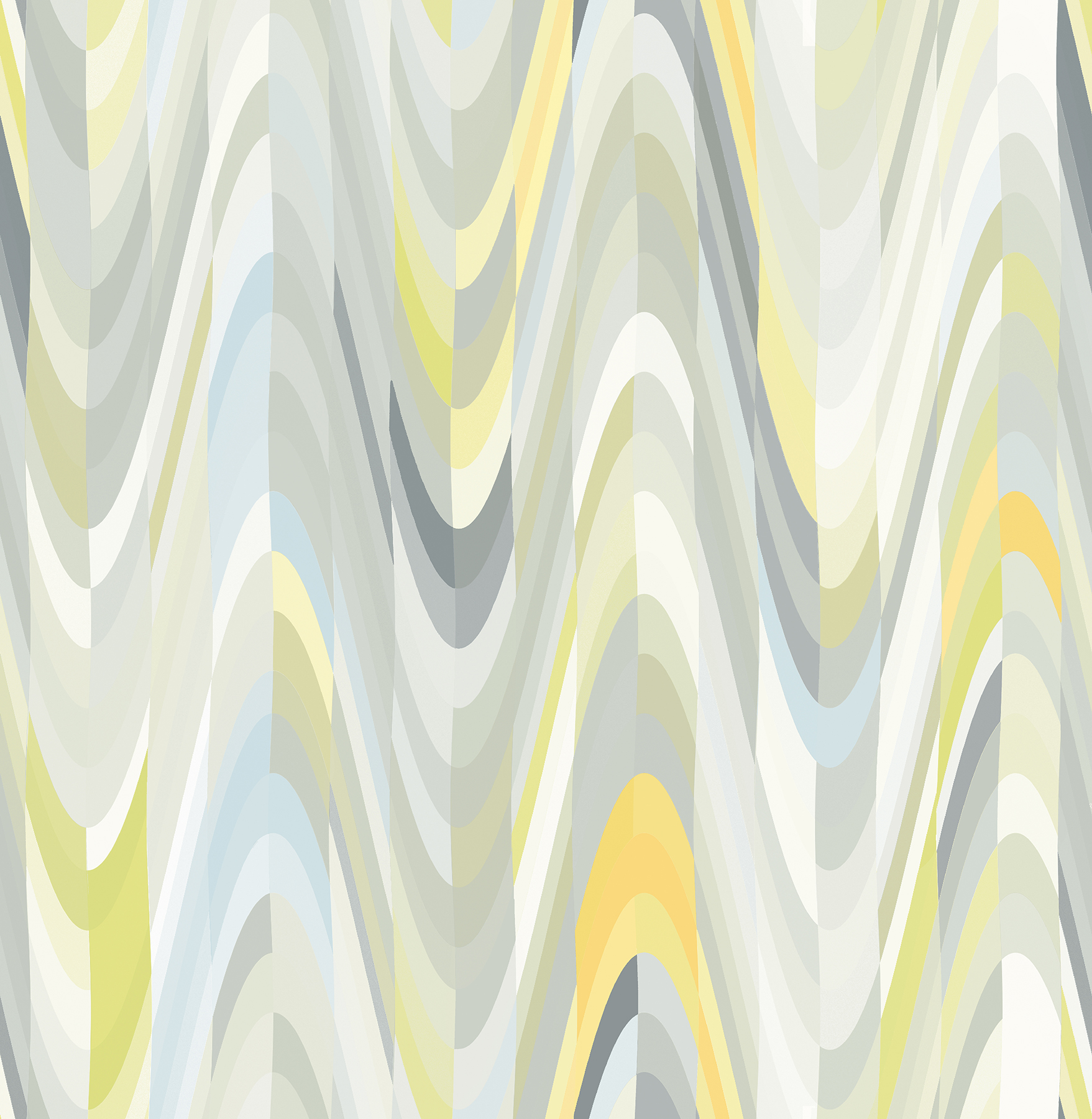 Picture of Aurora Yellow Geometric Wave Wallpaper