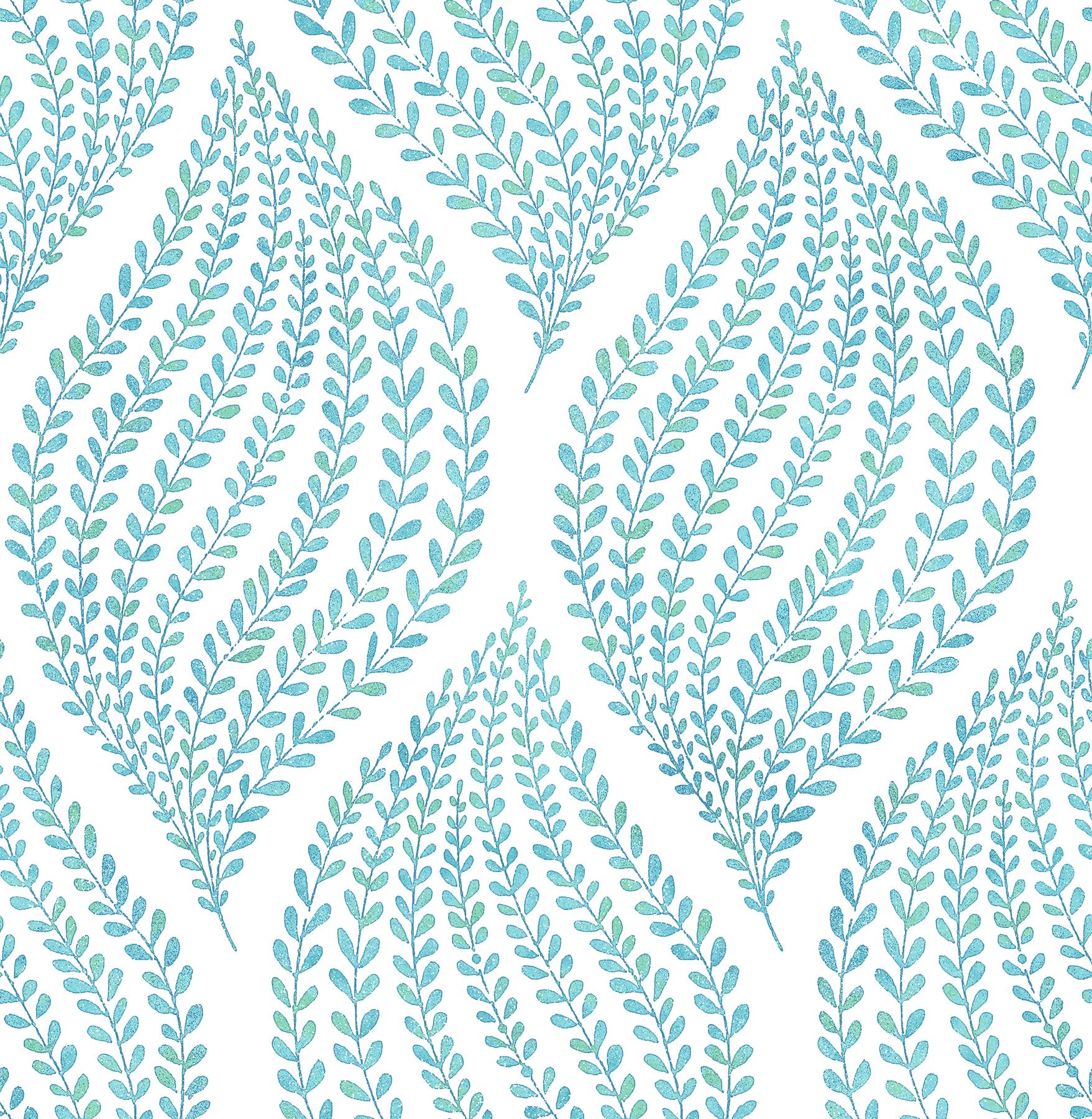 Picture of Arboretum Aqua Fern Wallpaper