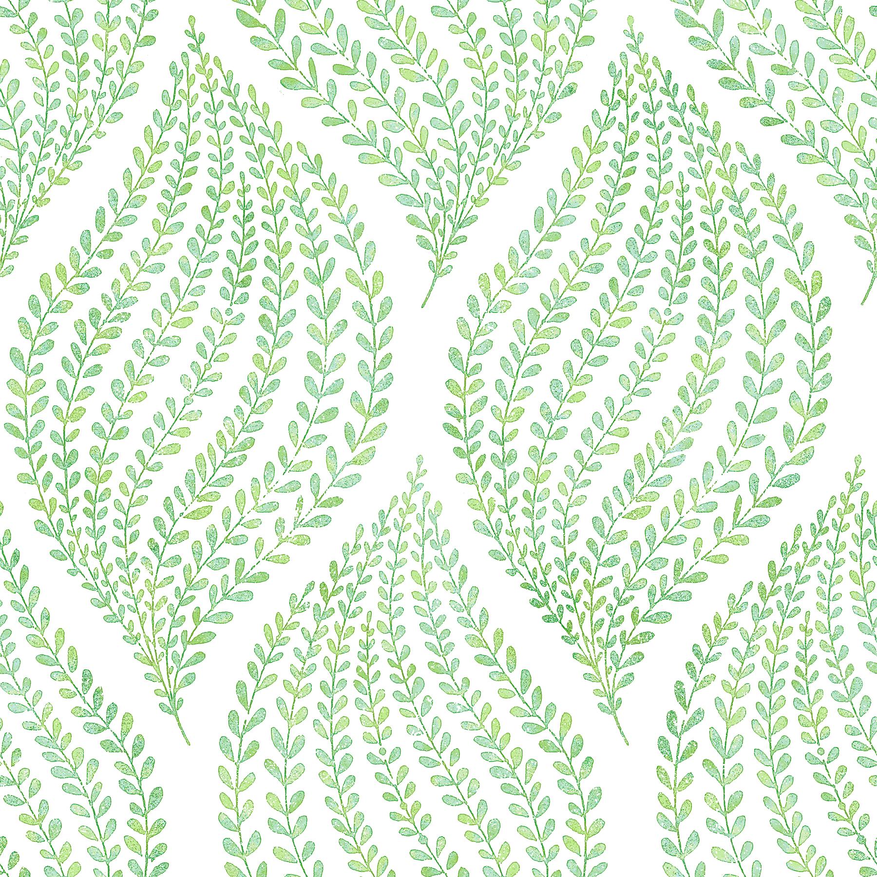 Picture of Arboretum Green Leaves Wallpaper