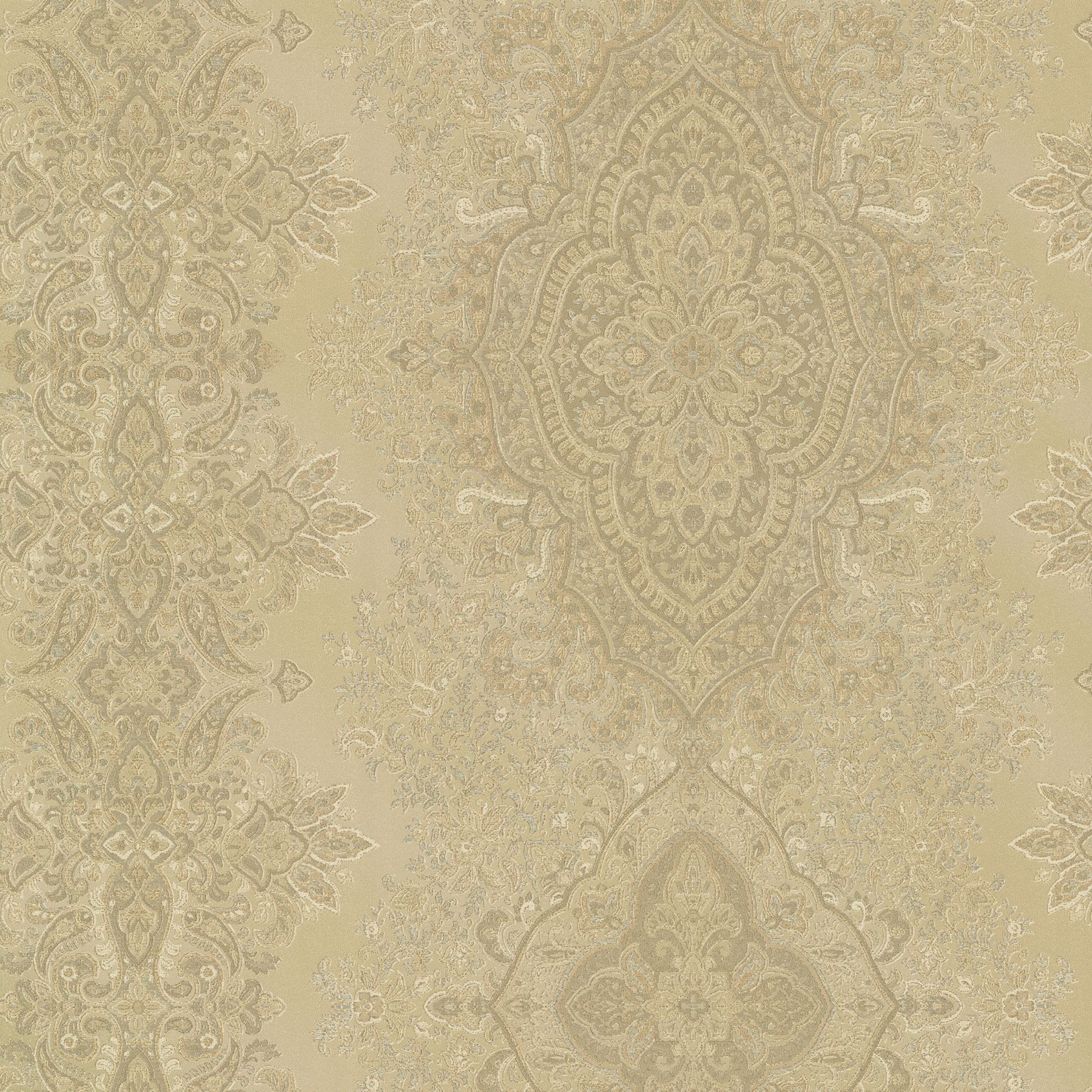Picture of Benedict Gold Ornate Paisley Stripe Wallpaper
