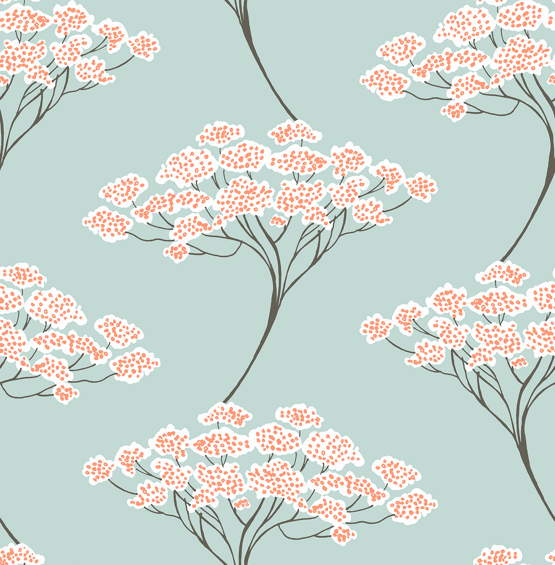 Picture of Banyan Light Blue Trees Wallpaper
