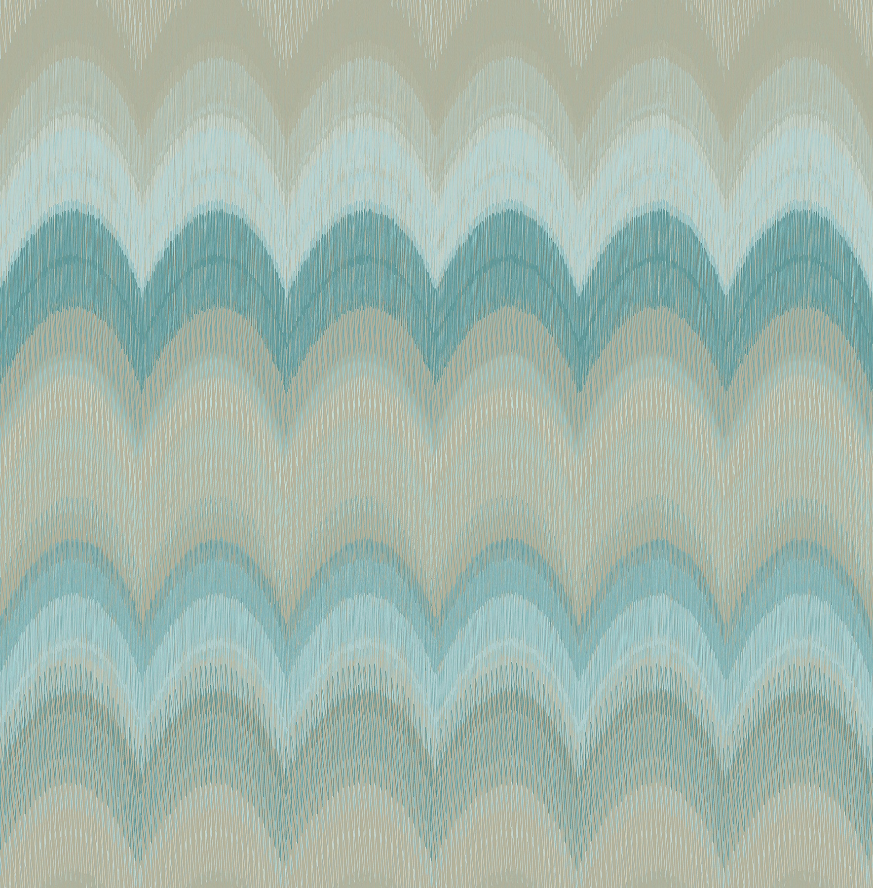 Picture of August Teal Wave Wallpaper
