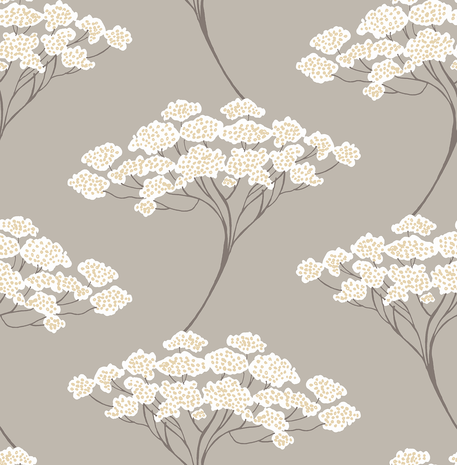Picture of Banyan Taupe Tree Wallpaper