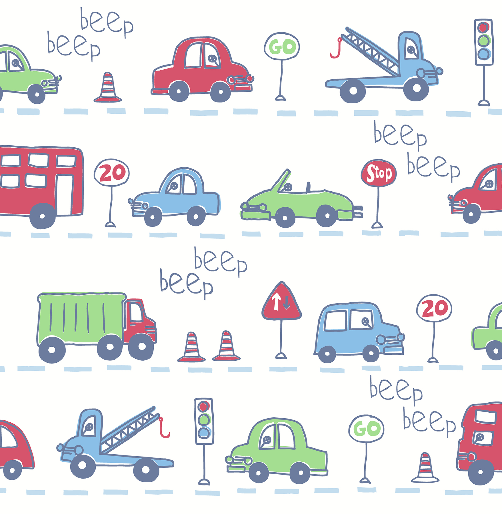 Picture of Beep Beep Beige Cars