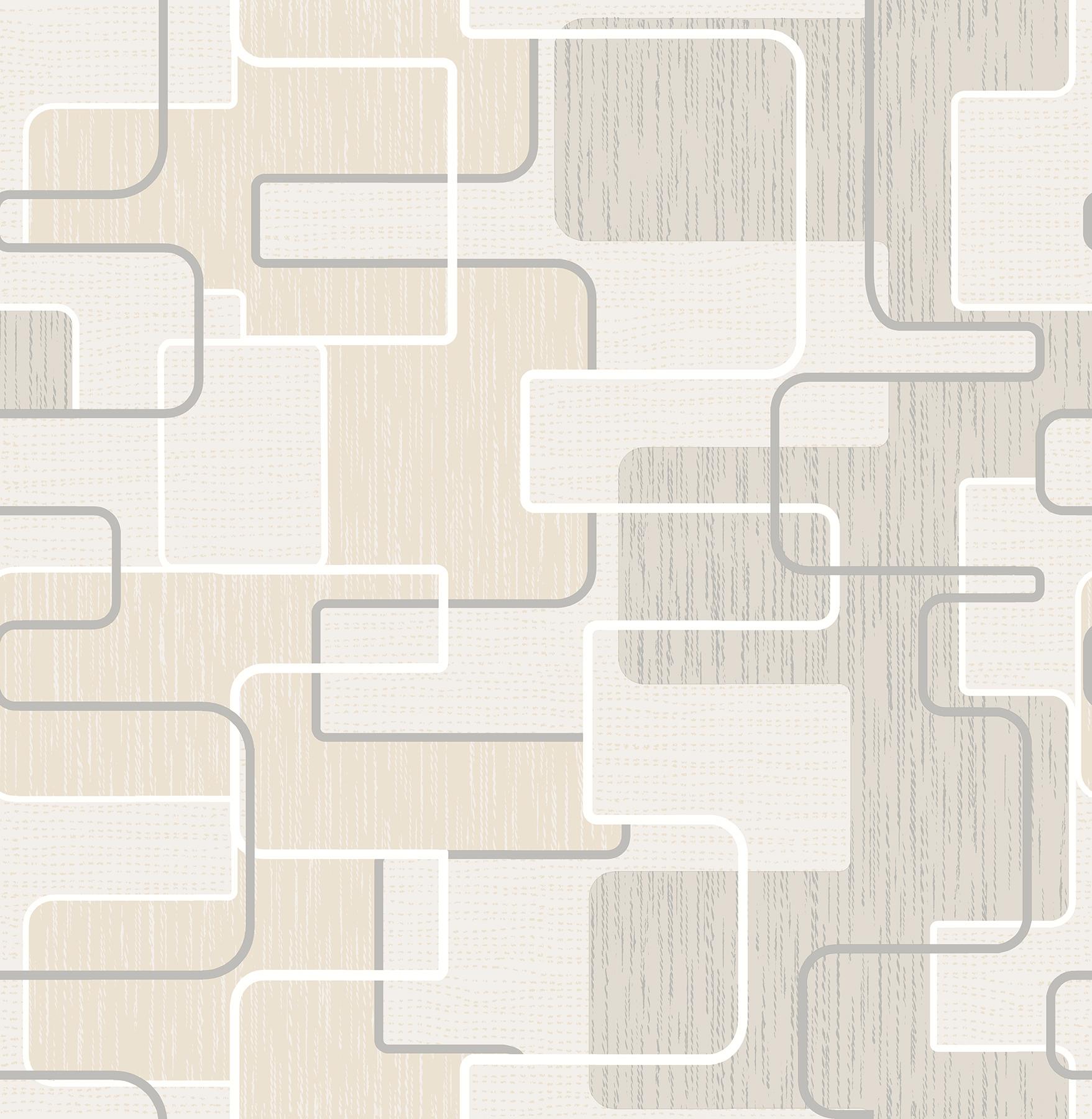 Picture of Balise Khaki Geometric Wallpaper