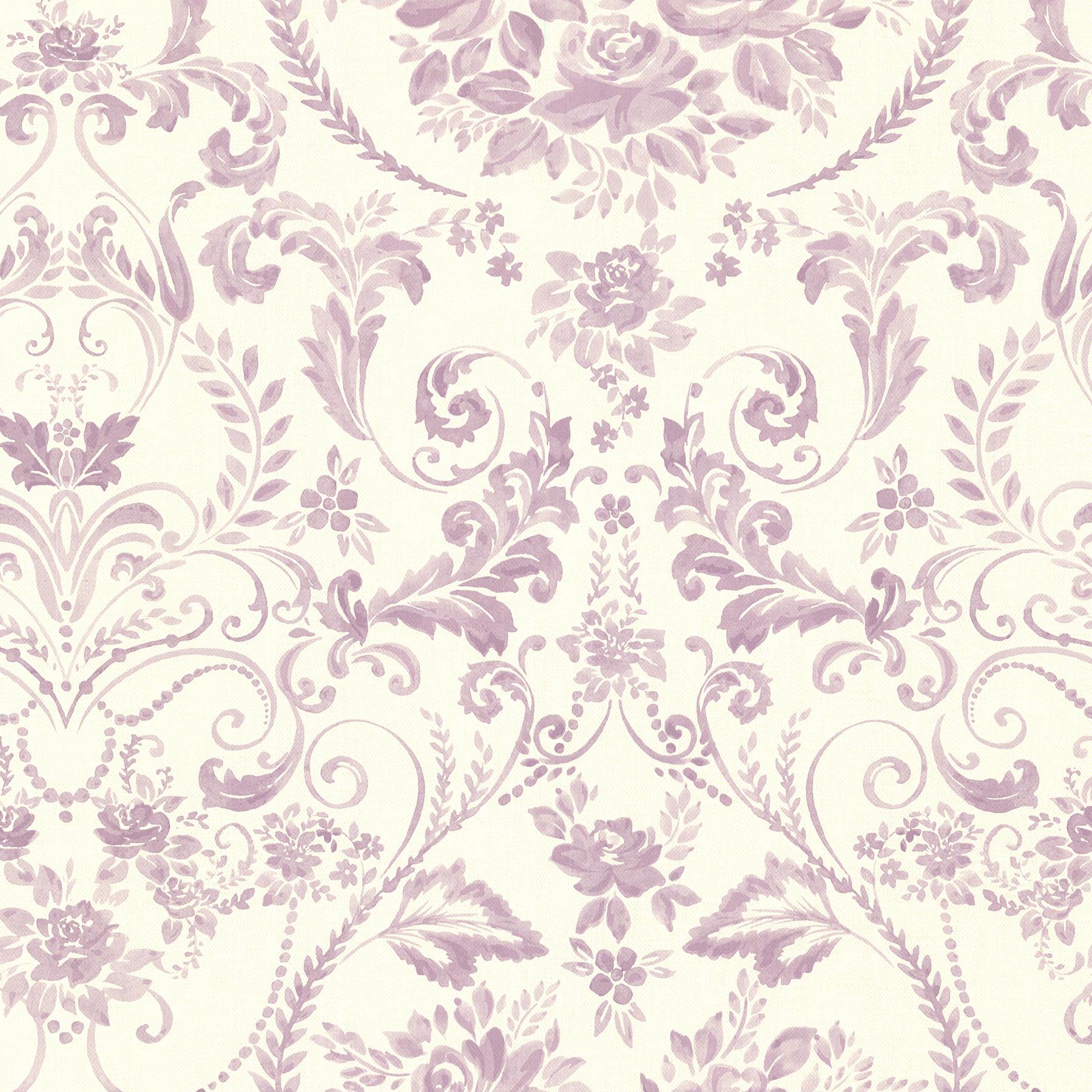 Picture of Bella Purple Damask Wallpaper