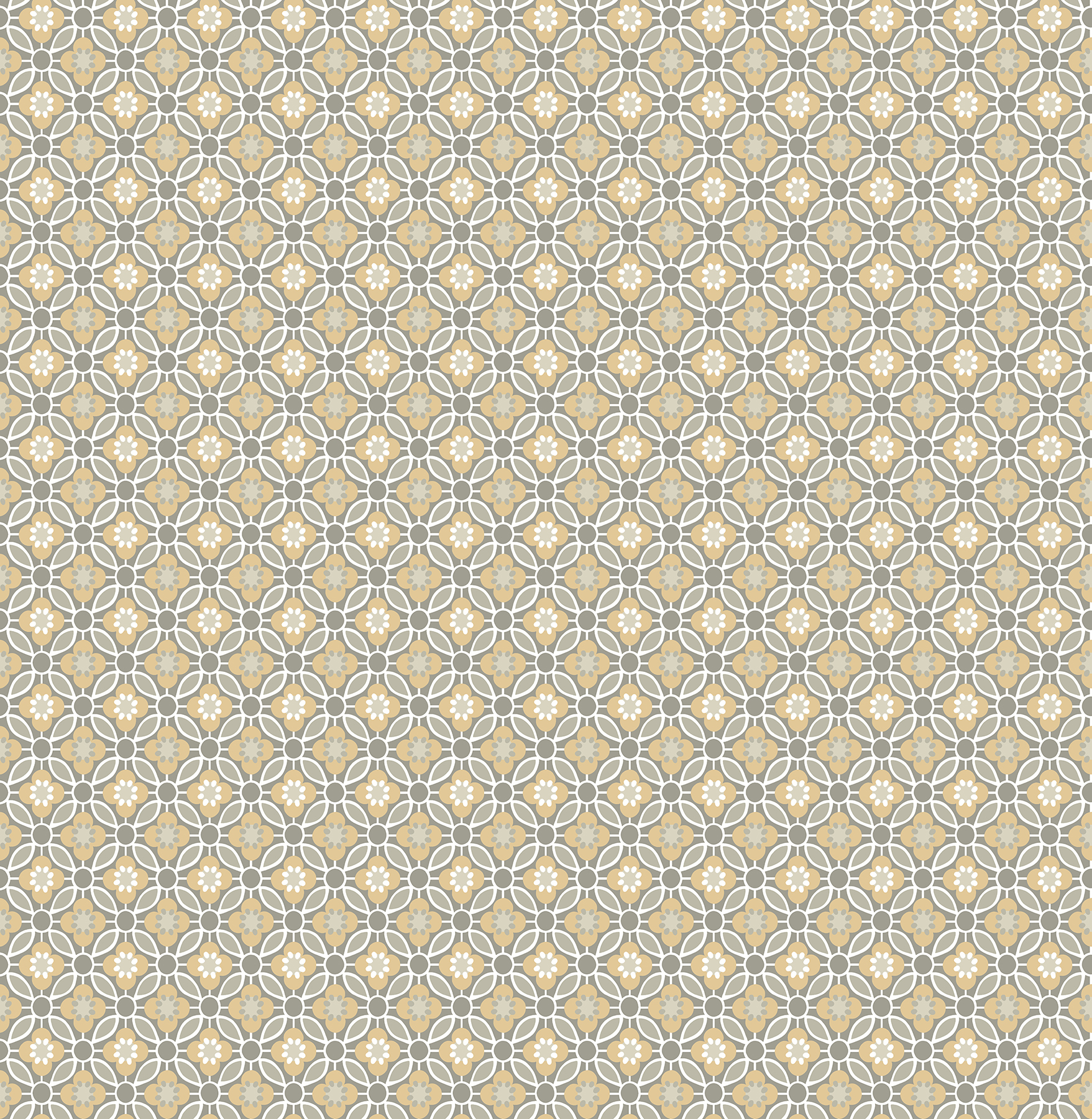 Picture of Audra Mustard Floral Wallpaper