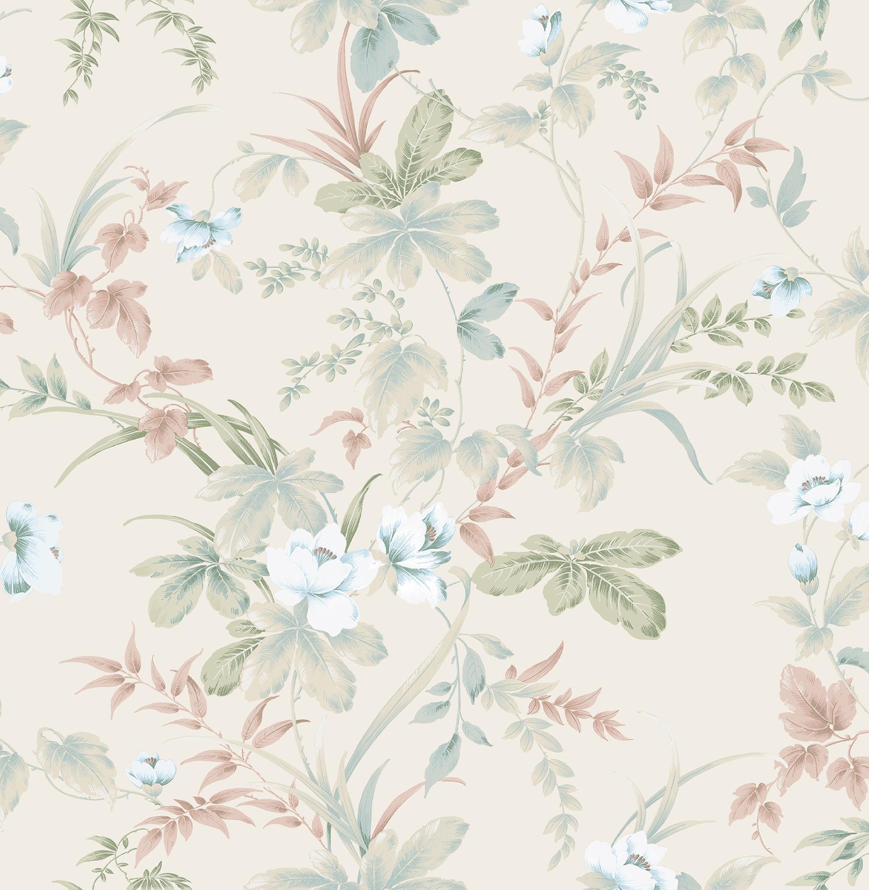 Picture of Begg Rock Cream Botanical Wallpaper