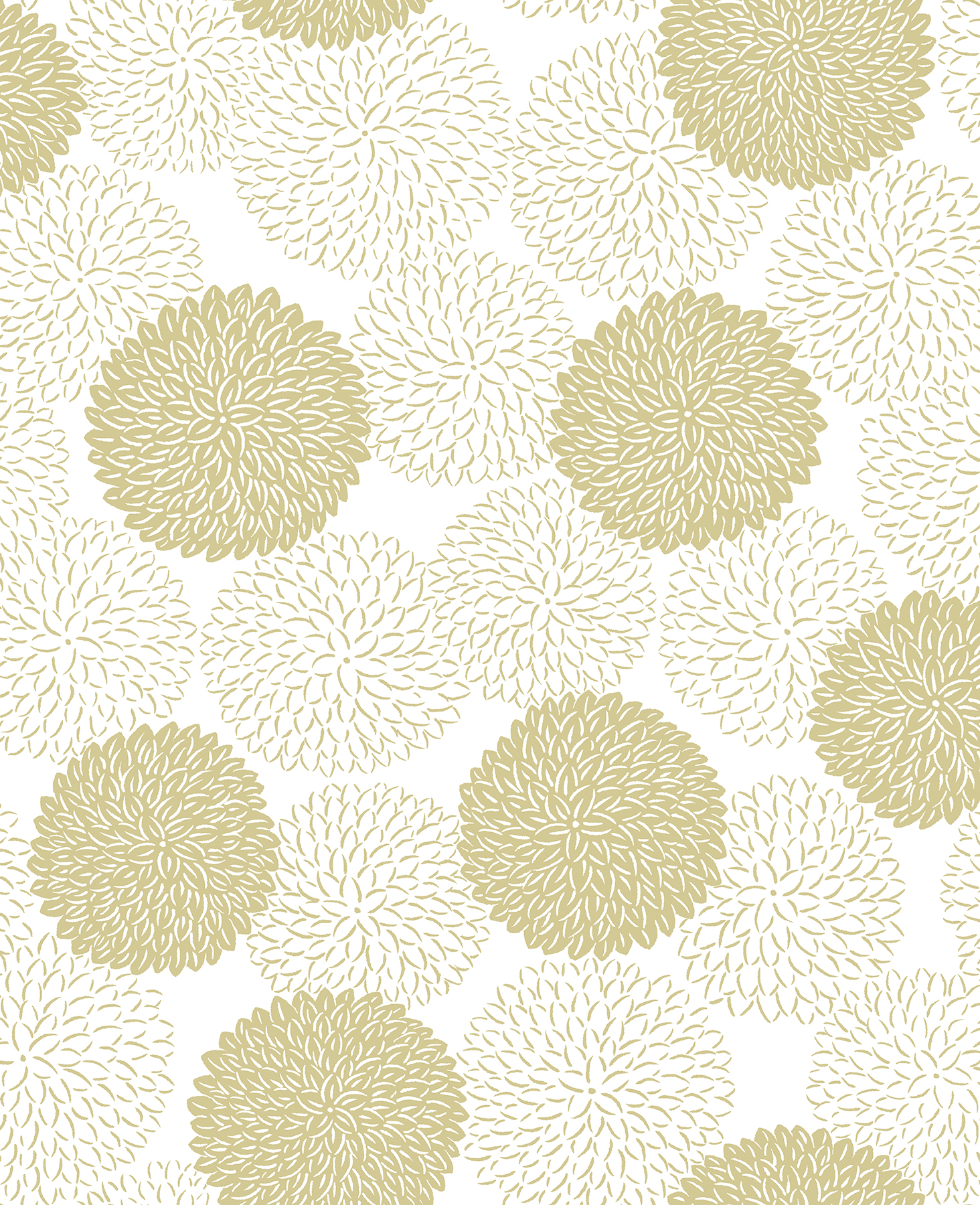 Picture of Blithe Gold Floral Wallpaper