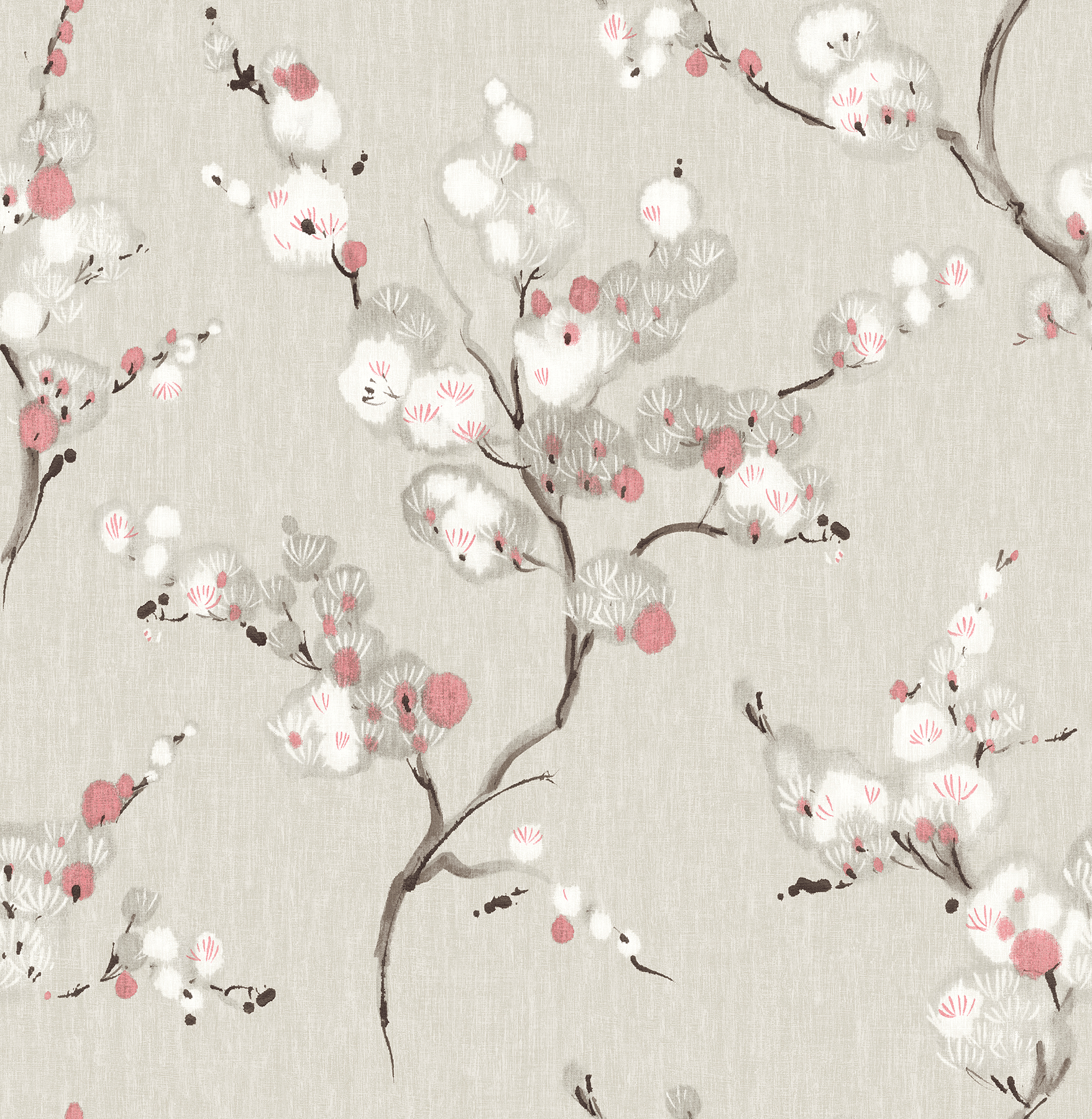 Picture of Bliss Coral Blossom Wallpaper