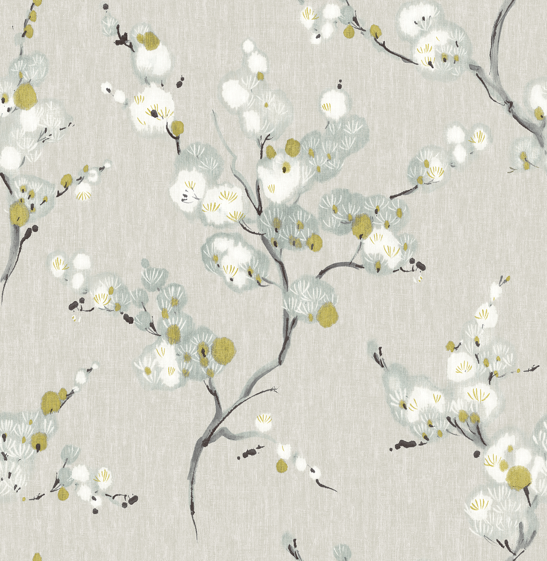 Picture of Bliss Blue Blossom Wallpaper