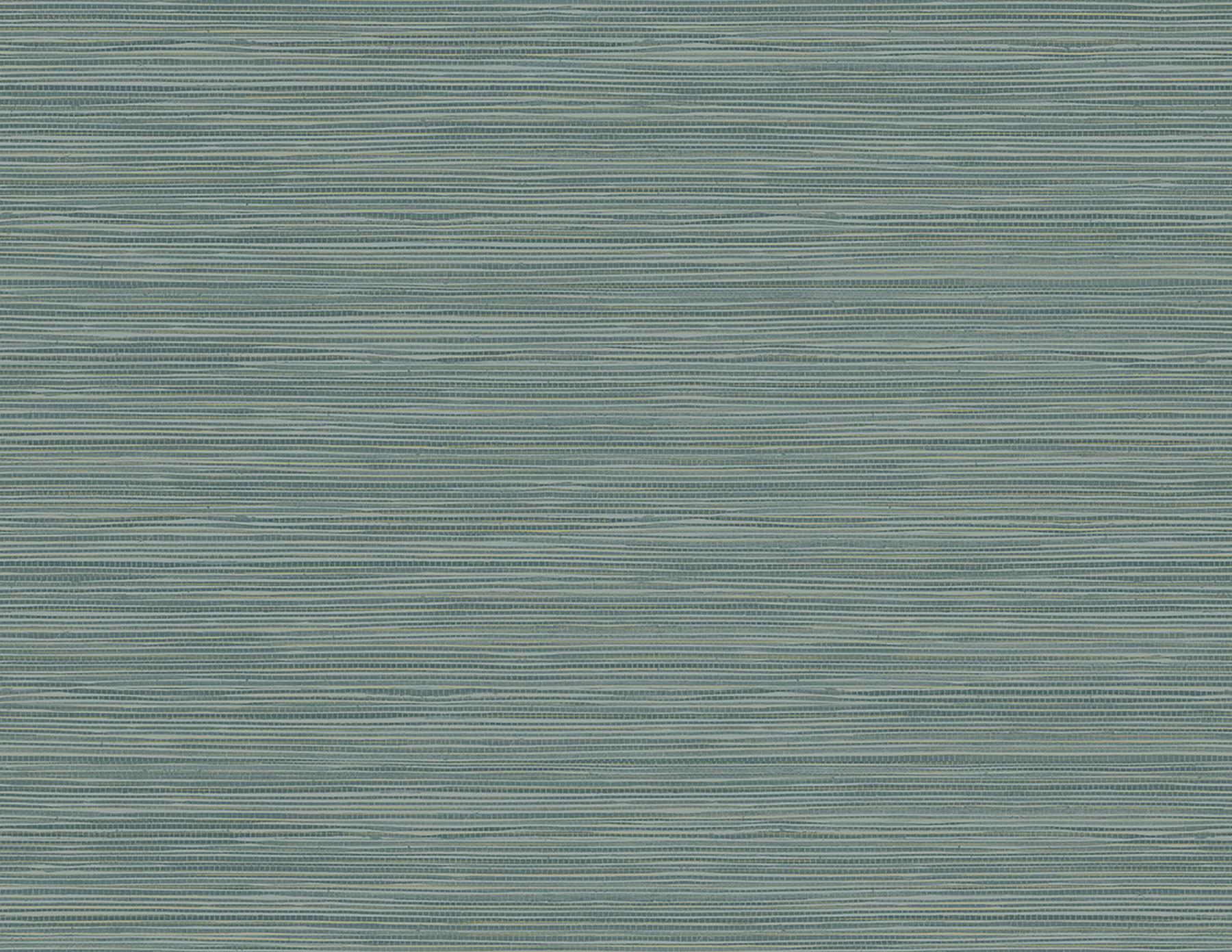 Picture of Bondi Teal Grasscloth Texture Wallpaper