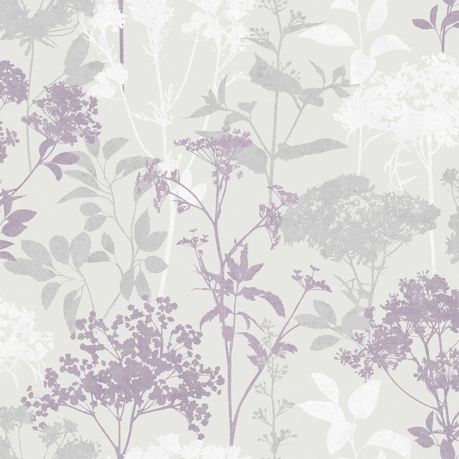 Picture of Brassia Lavender Silhouette Floral Wallpaper