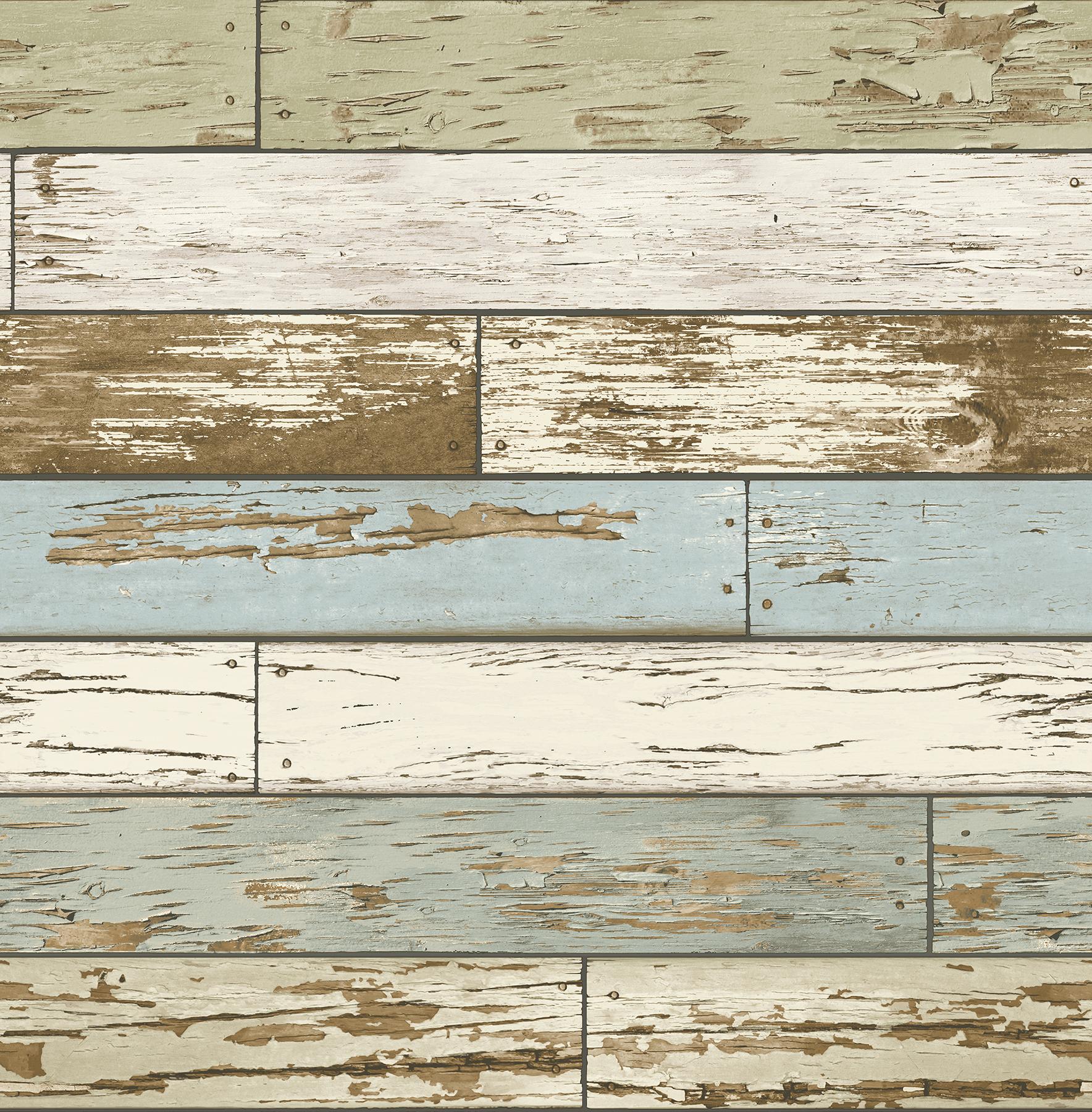Picture of Borough Blue Scrap Wood Wallpaper