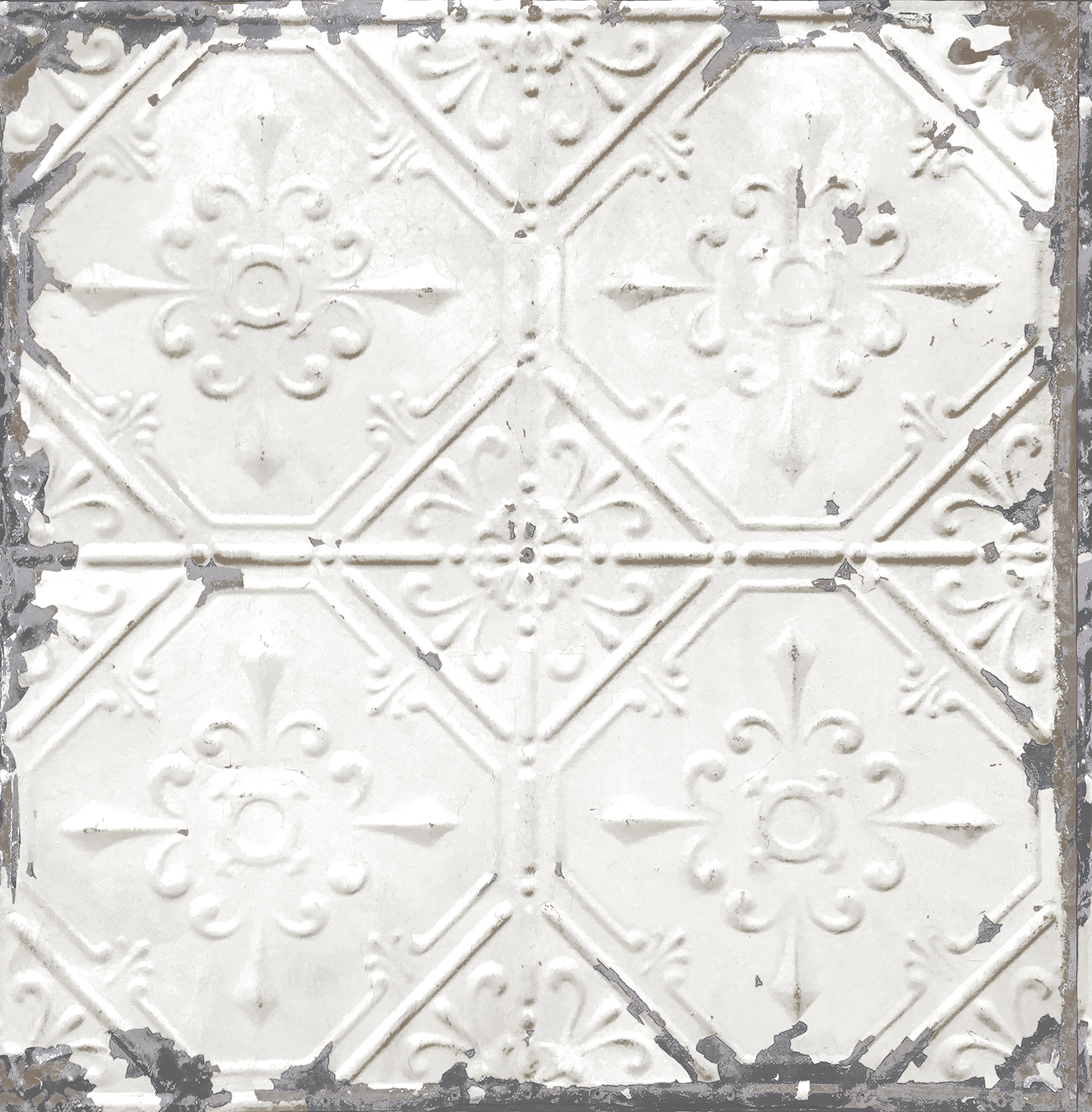Picture of Artisan White Tin Ceiling Wallpaper