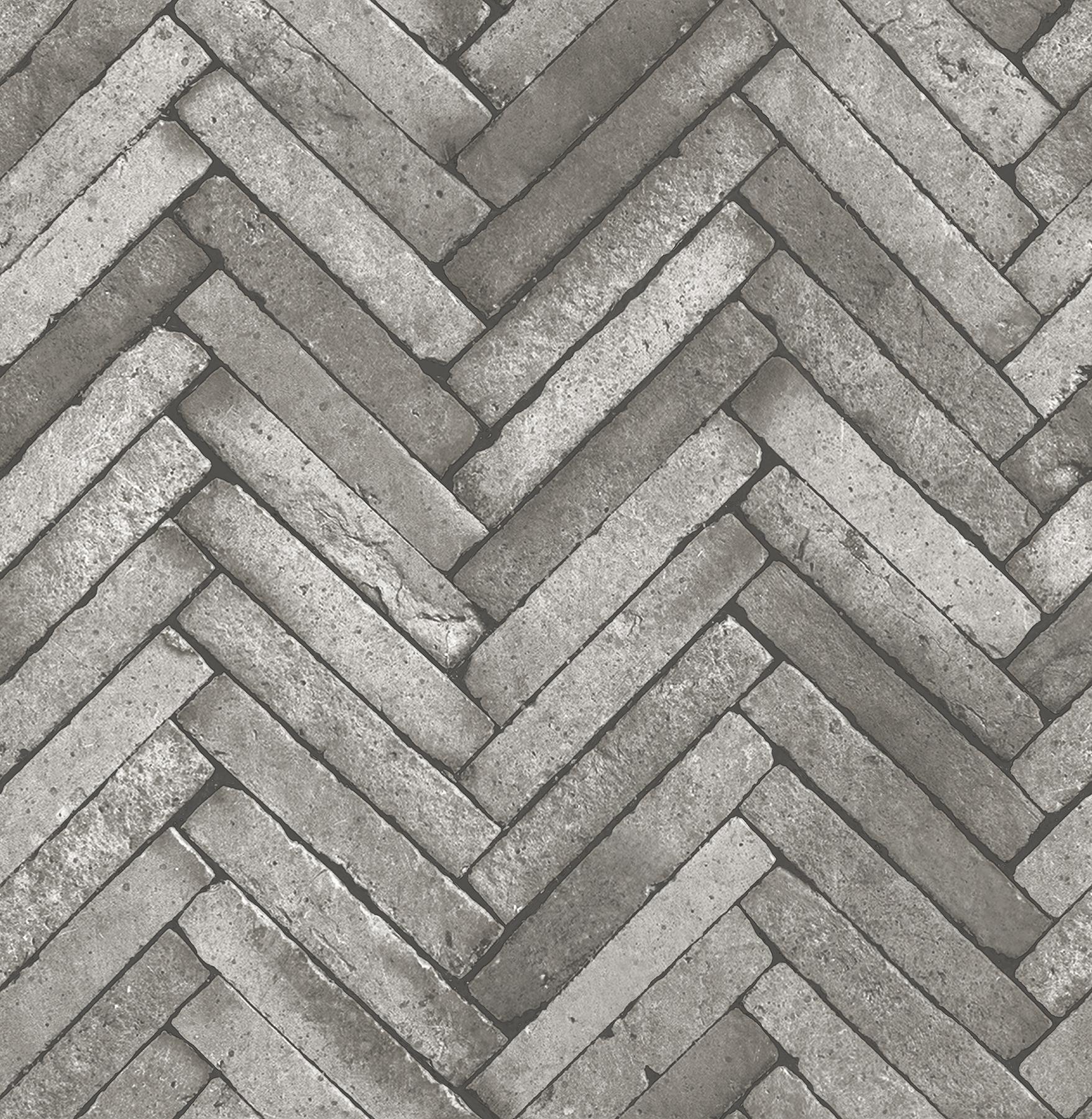 Picture of Arrow Dark Grey Diagonal Slate Wallpaper