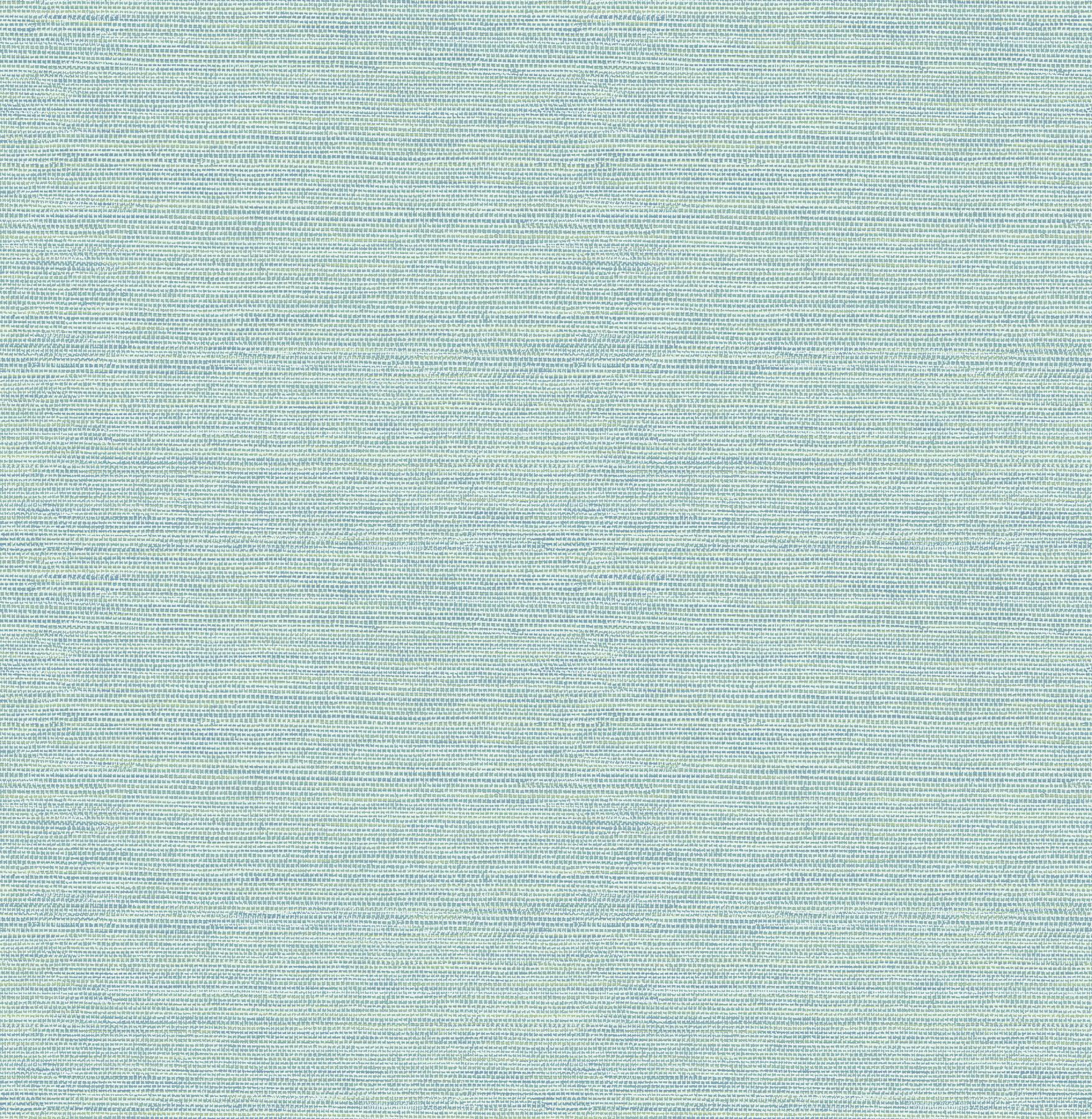 Picture of Bluestem Aqua Faux Grasscloth Wallpaper