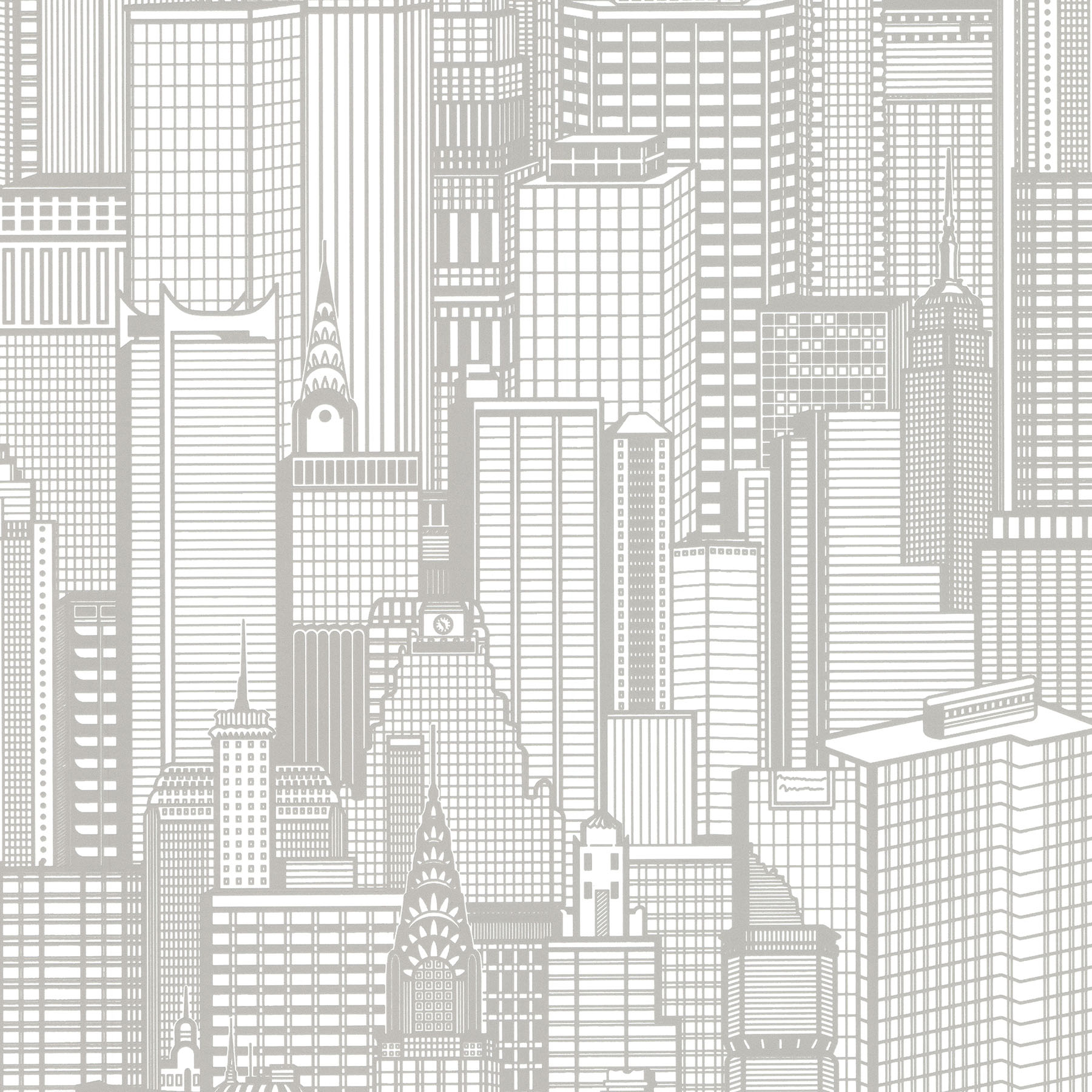Picture of Aston Light Grey City Wallpaper