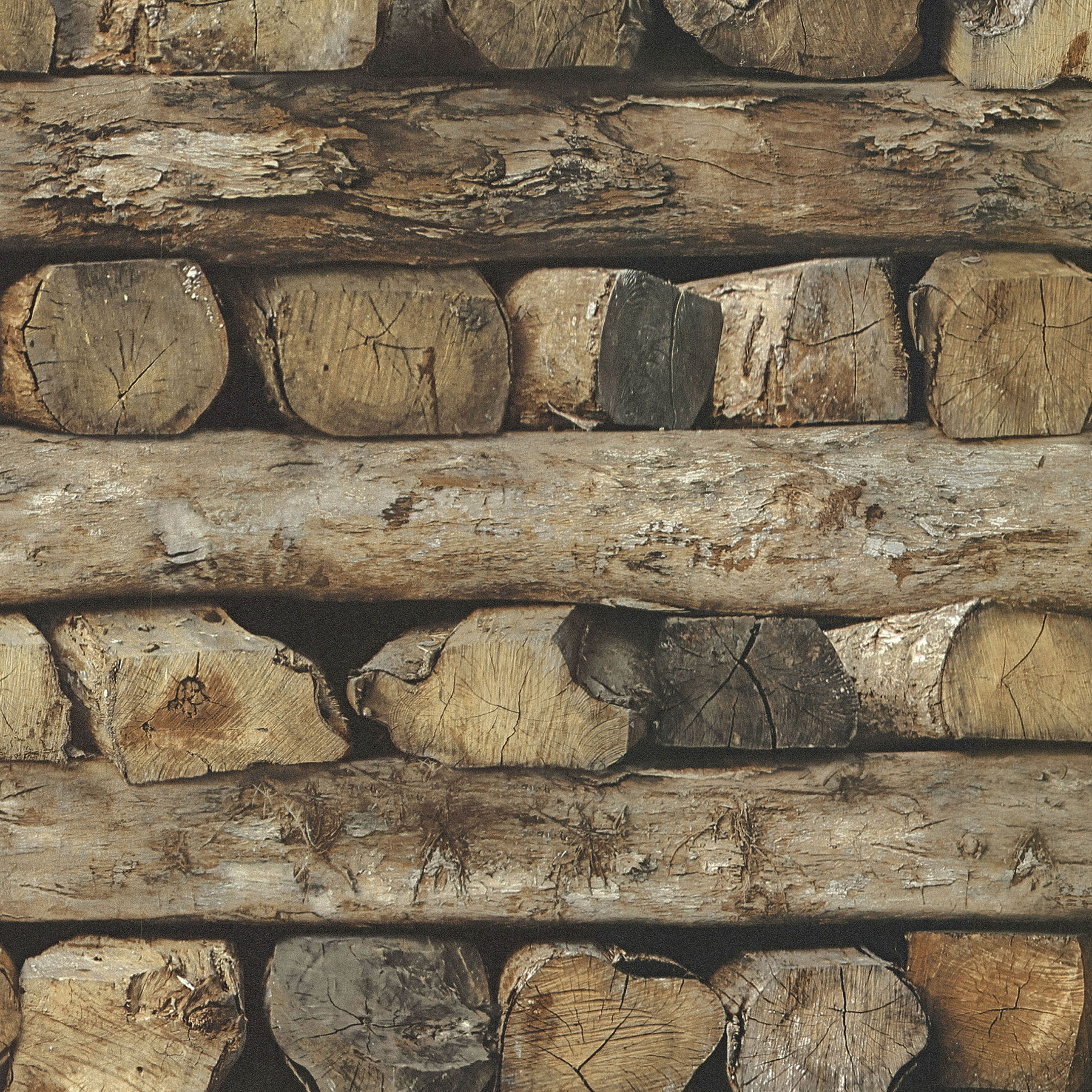 Picture of Bighorn Brown Logs Wallpaper