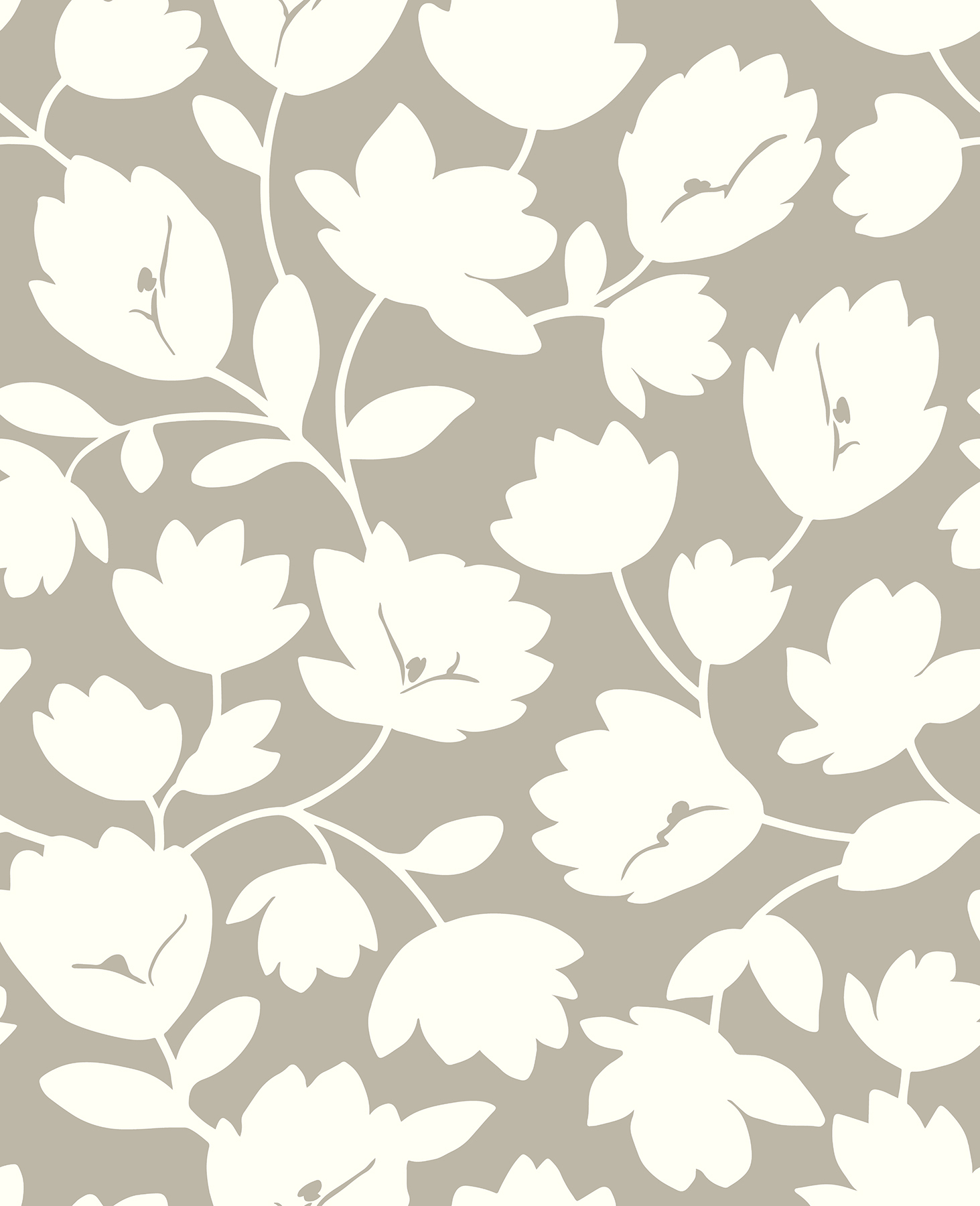 Picture of Astrid Taupe Floral Wallpaper