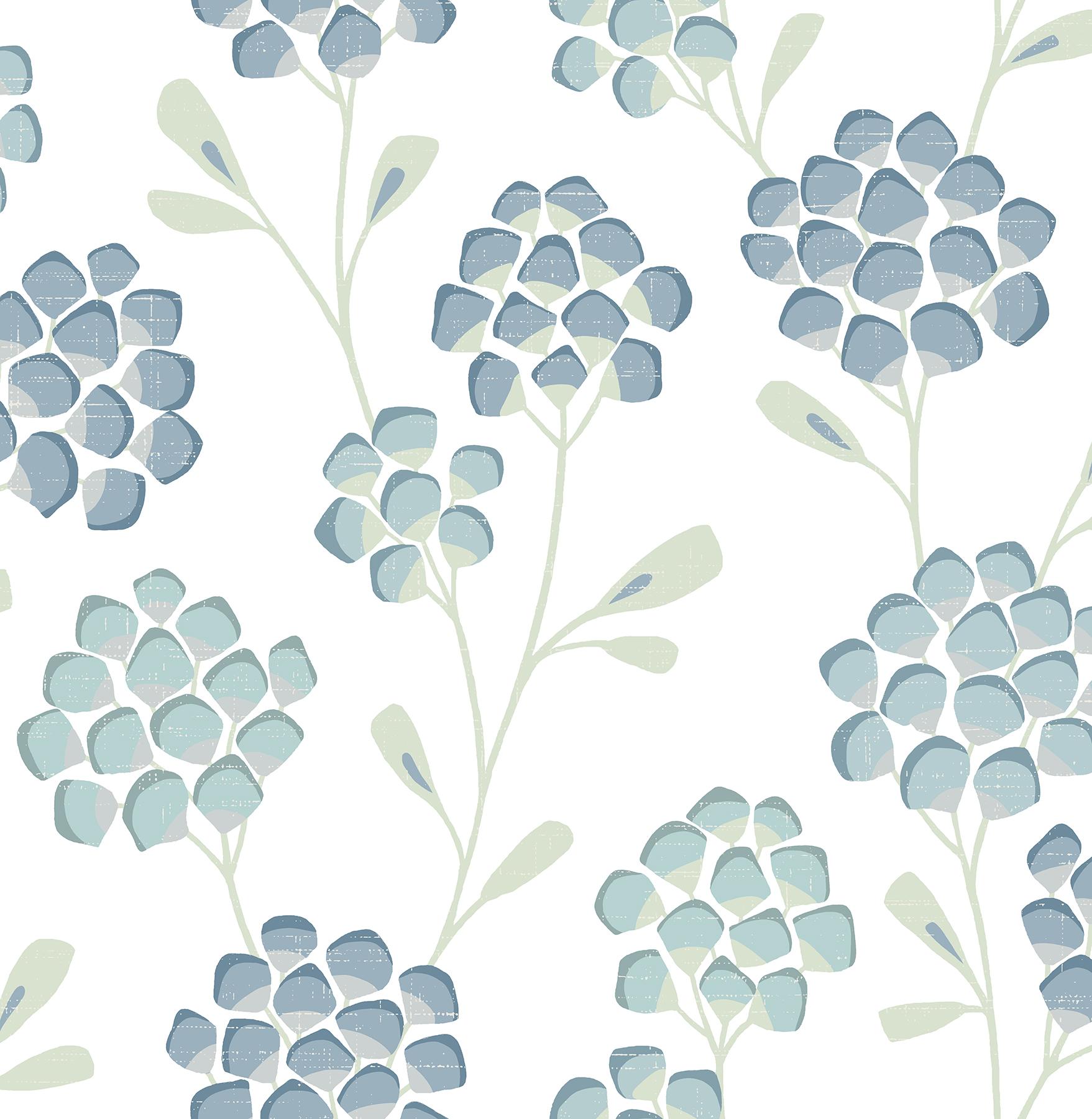 Picture of Aqua Scandi Flora Wallpaper