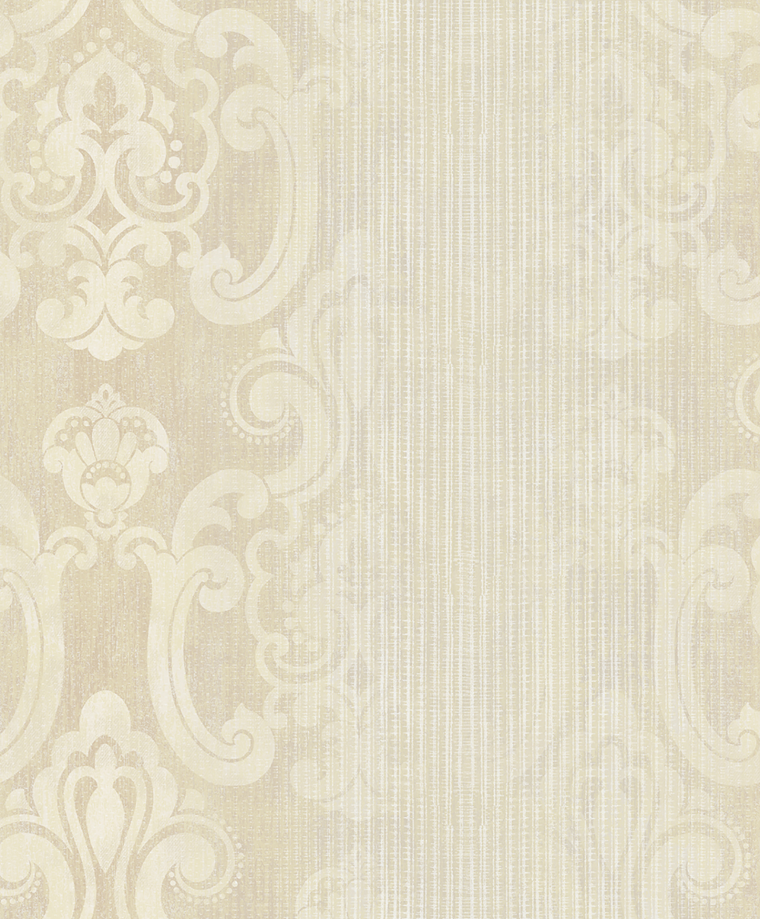 Picture of Ariana Gold Striped Damask Wallpaper