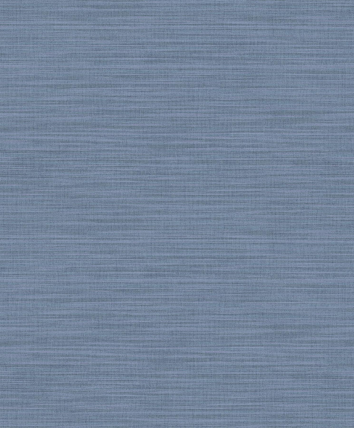 Picture of Ashleigh Blue Linen Texture Wallpaper