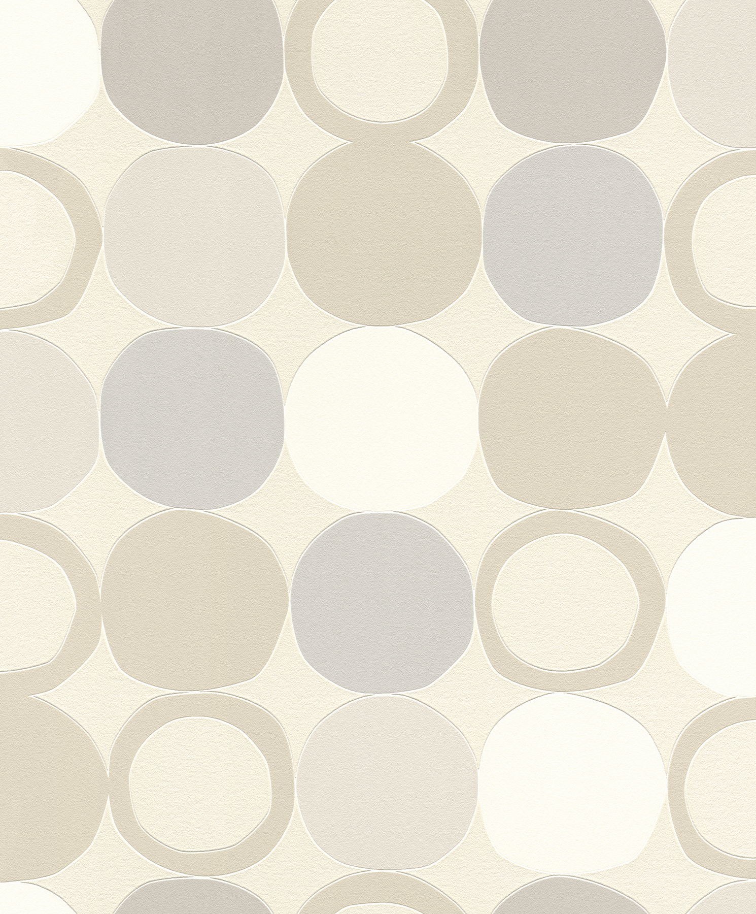 Picture of Beard Light Grey Geometric Wallpaper