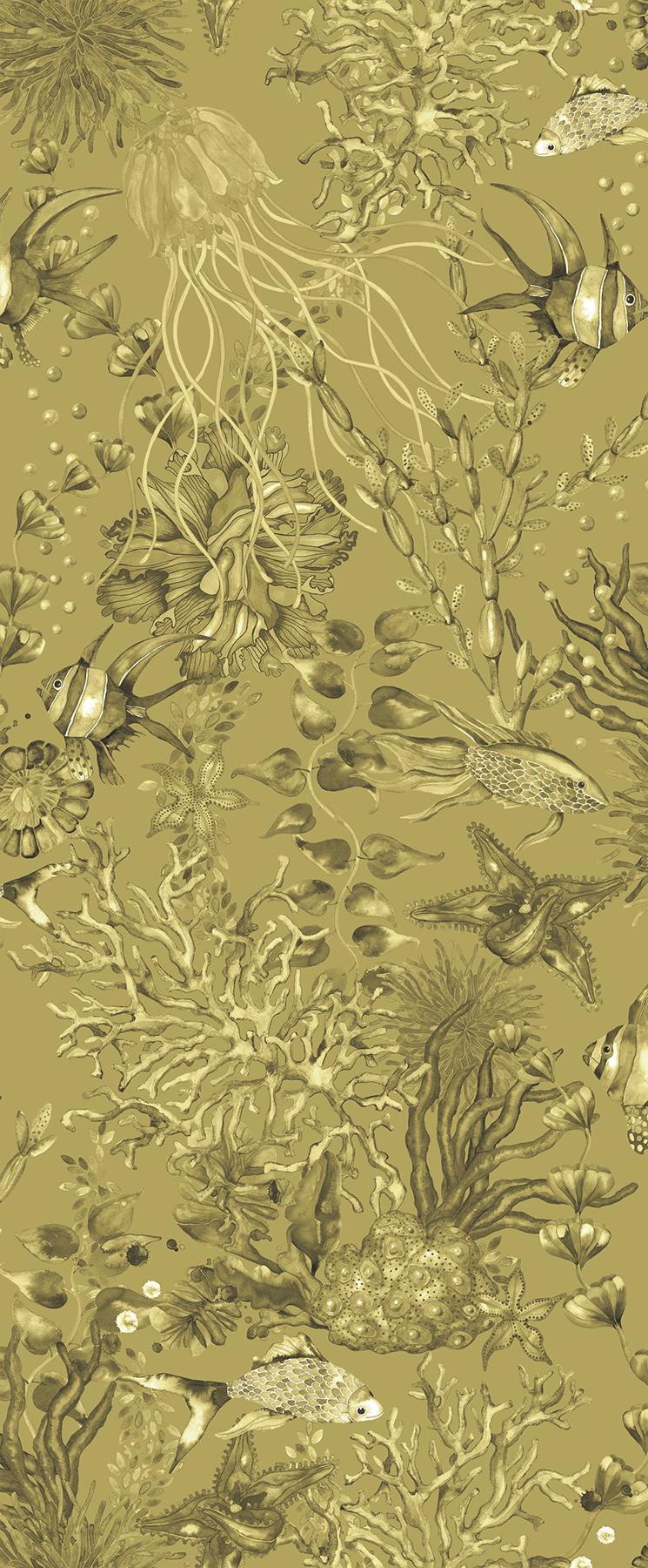 Picture of Bergen Mustard Marine Life Wallpaper