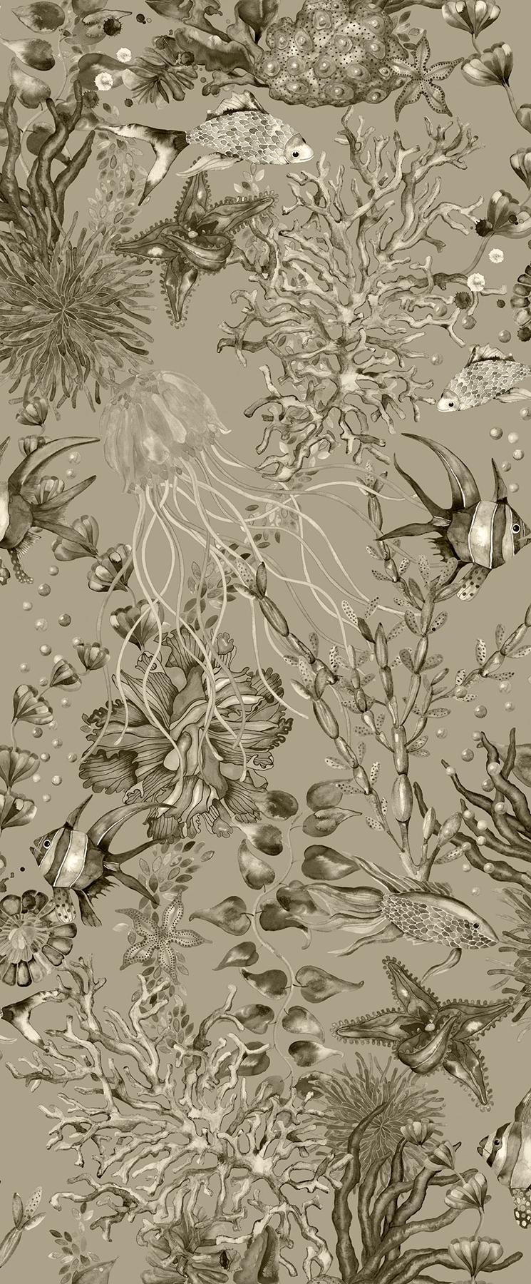 Picture of Bergen Grey Marine Life Wallpaper
