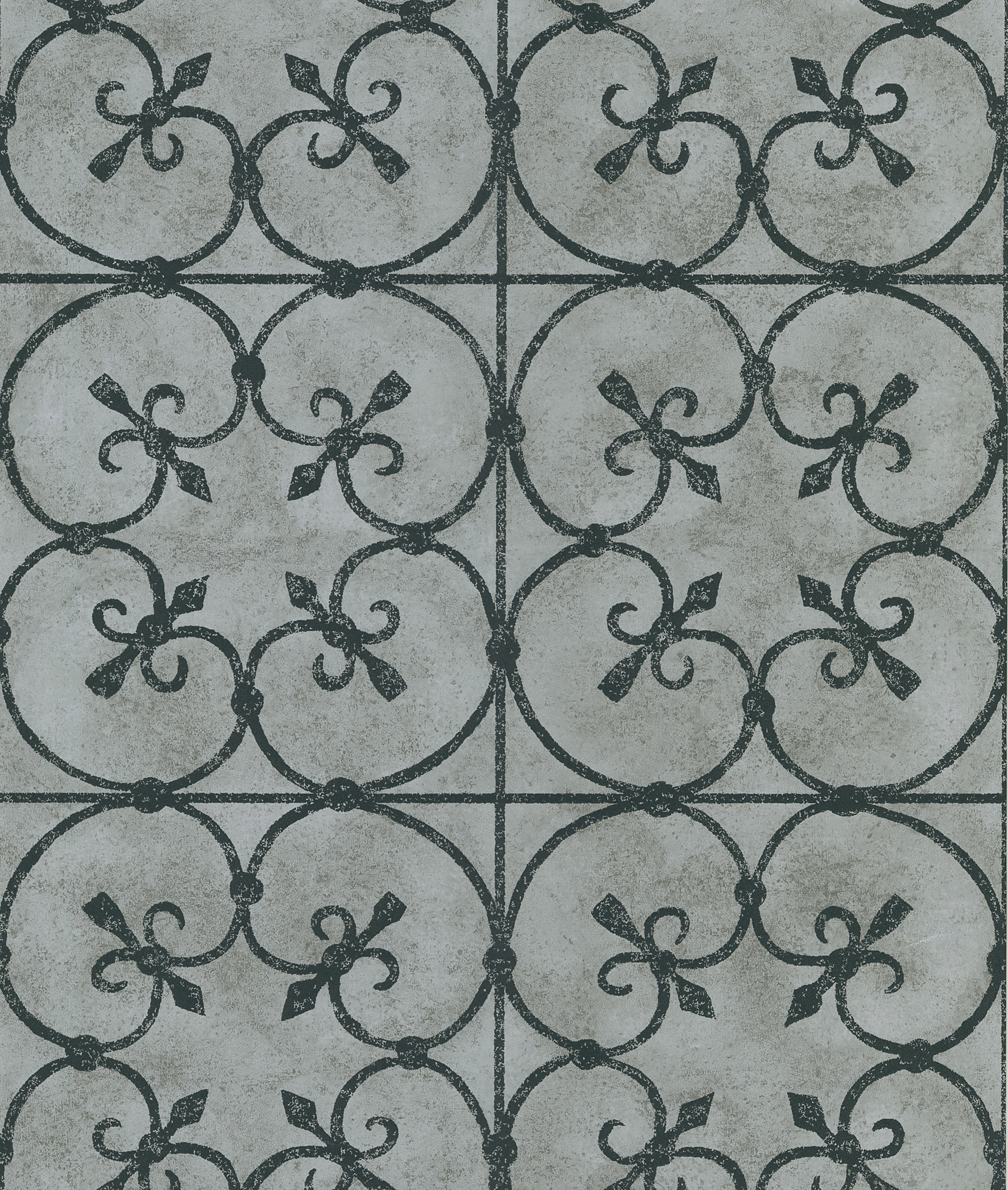 Picture of Avalon Silver Ironwork Wallpaper