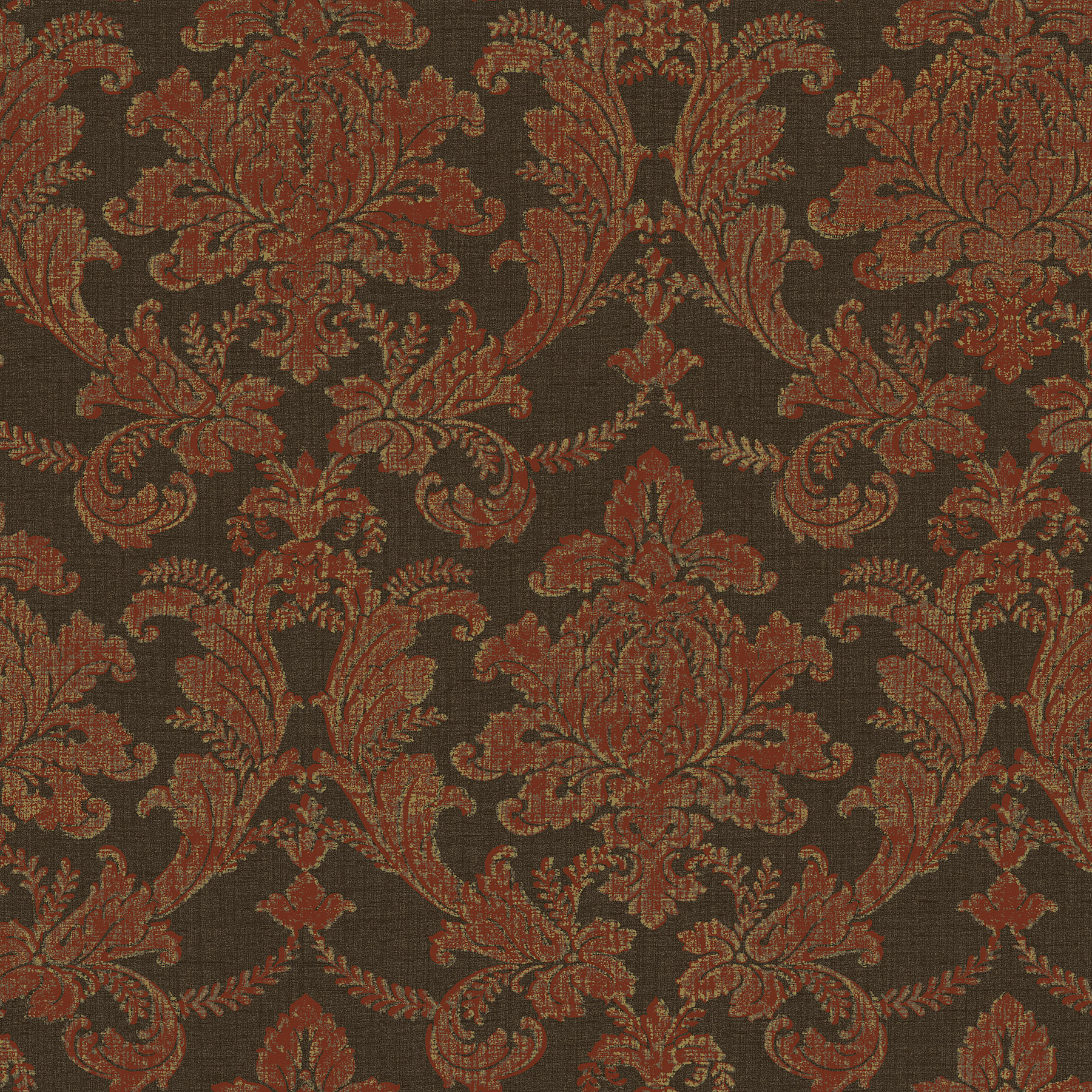 Picture of Brick Textured Damask Wallpaper