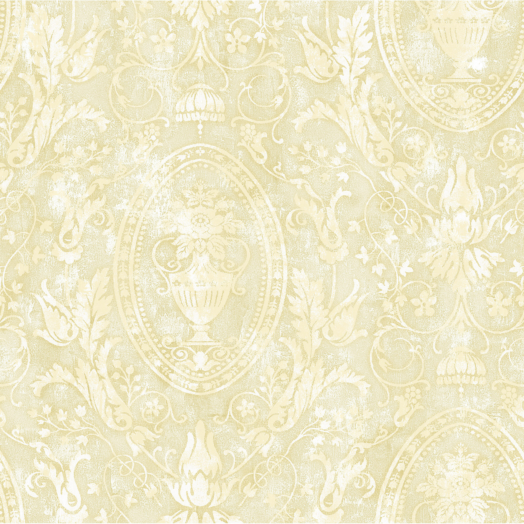 Picture of Bronze Urn Acanthus Leaf Cameo Wallpaper