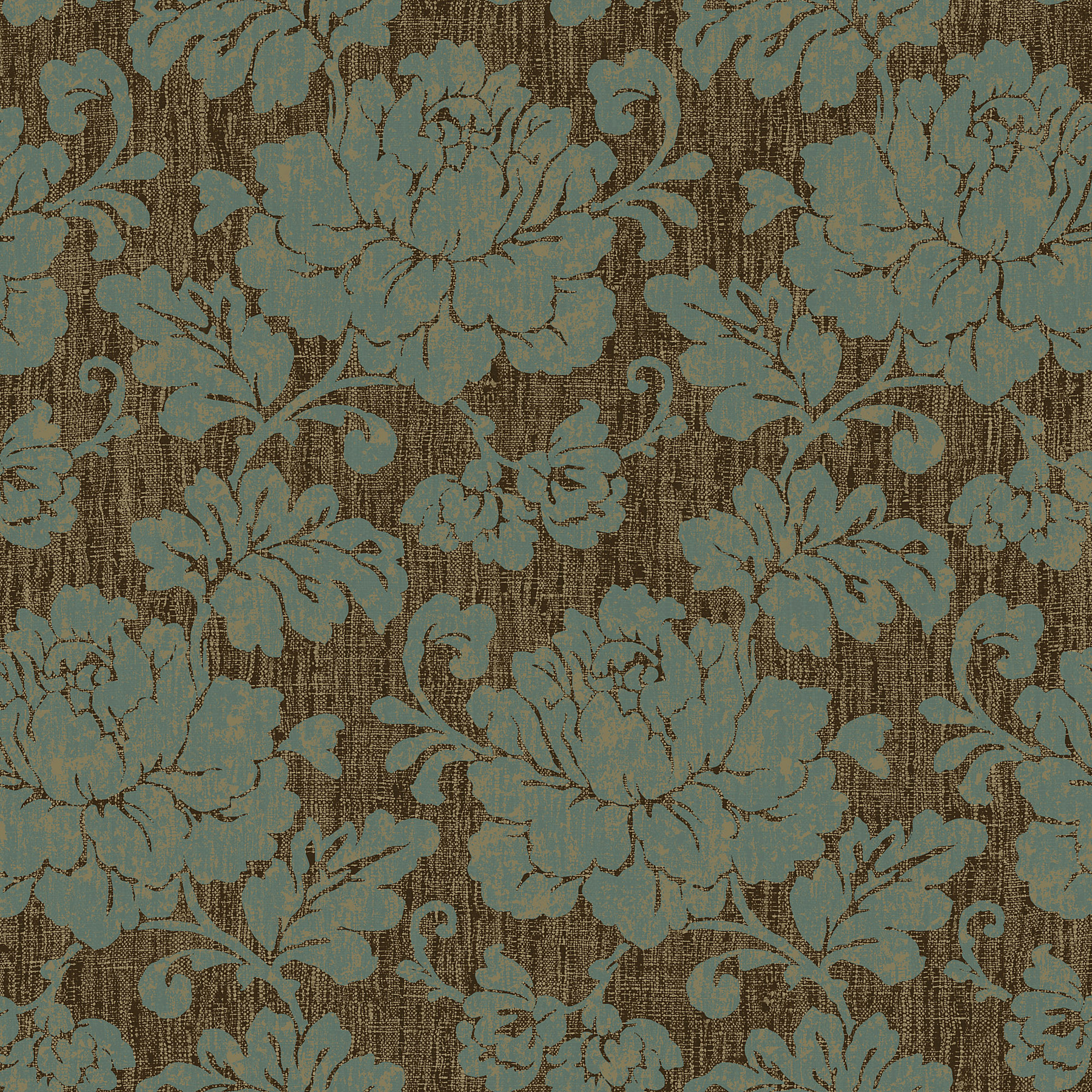 Picture of Brown Tonal Floral Wallpaper